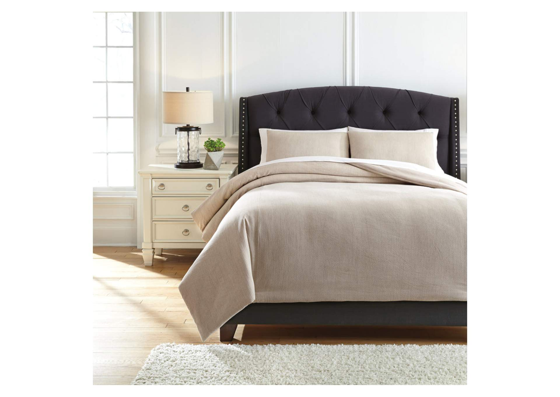 Mayda Beige King Comforter Set,Signature Design By Ashley