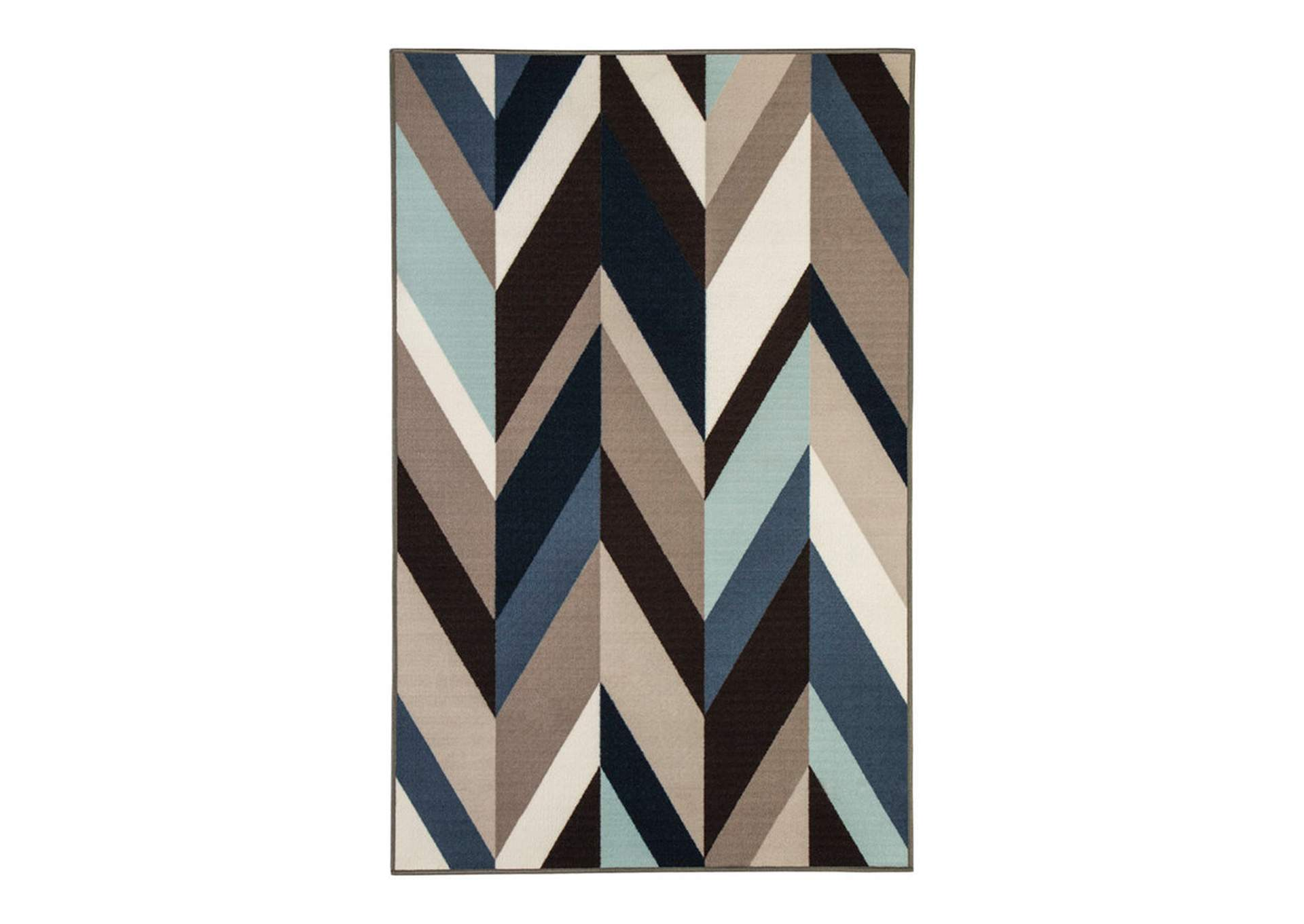 Keelia Blue/Brown/Gray Rug,Signature Design By Ashley