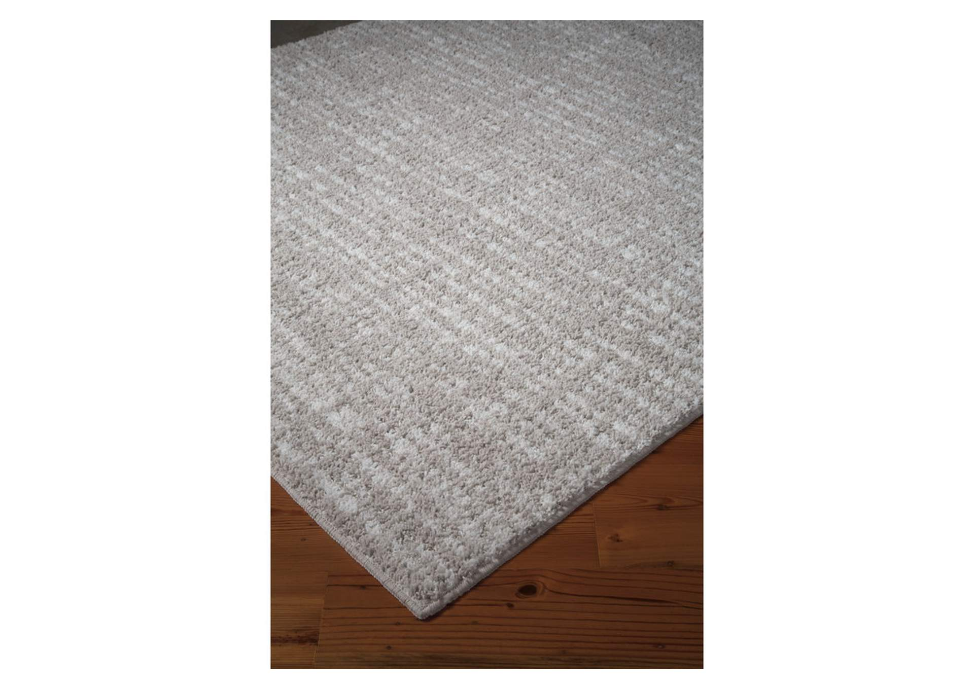 Norris Taupe/White Large Rug,Direct To Consumer Express
