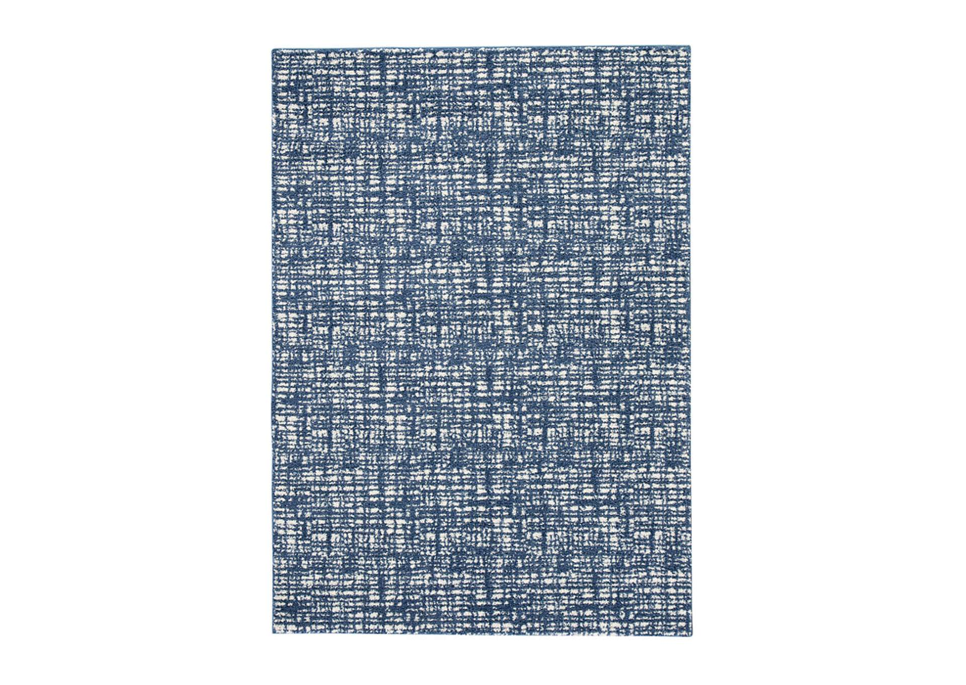 Norris Blue/White Large Rug,Direct To Consumer Express