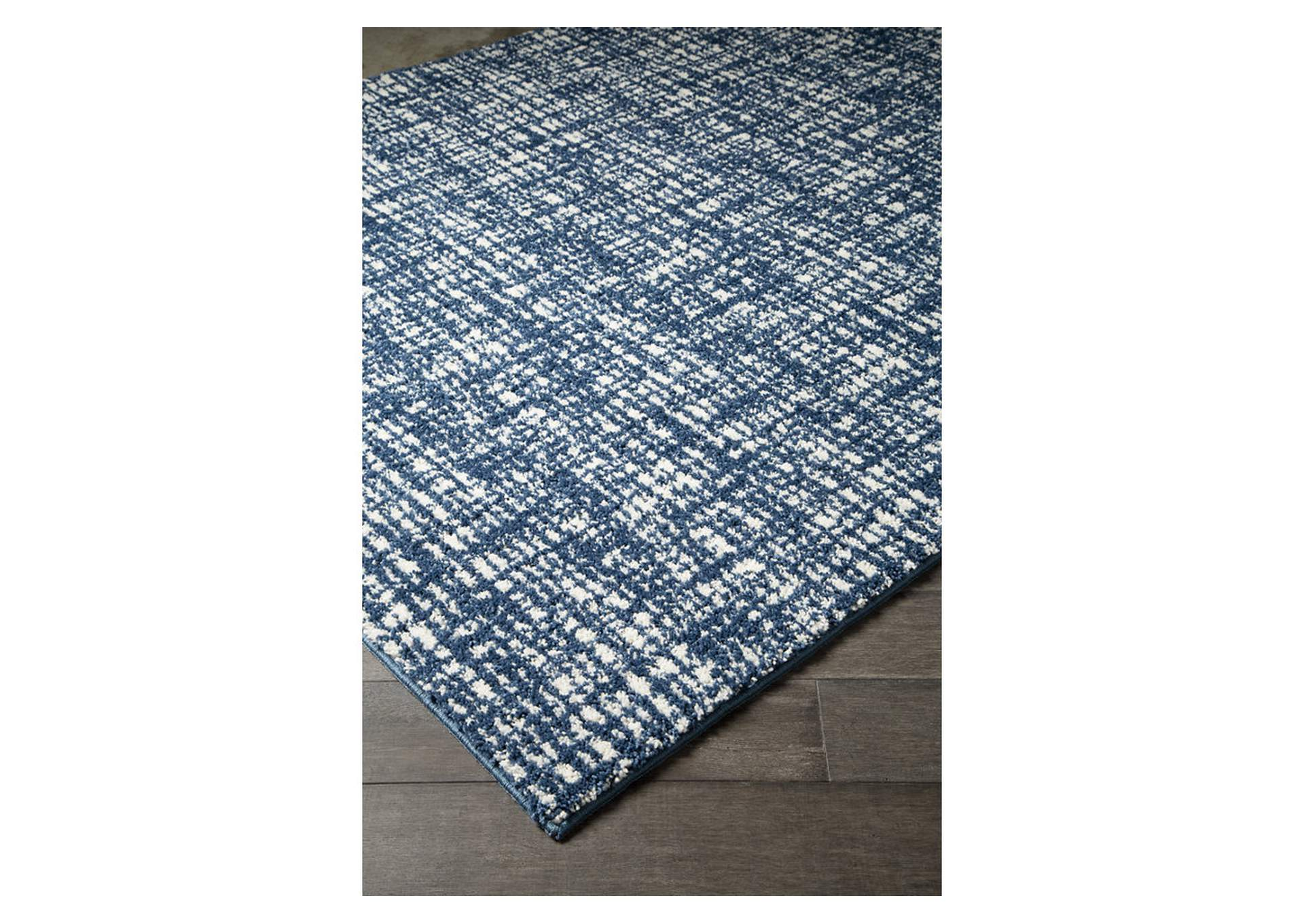Norris Blue/White Medium Rug,Direct To Consumer Express