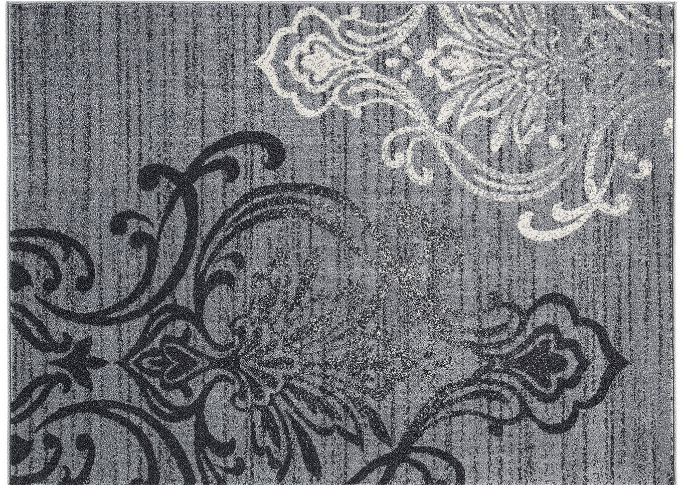Verrill Gray/Black Medium Rug,Direct To Consumer Express