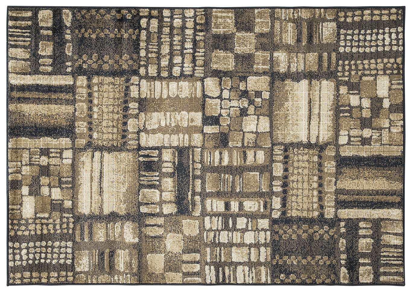 Hilliard Black/Brown Medium Rug,Direct To Consumer Express