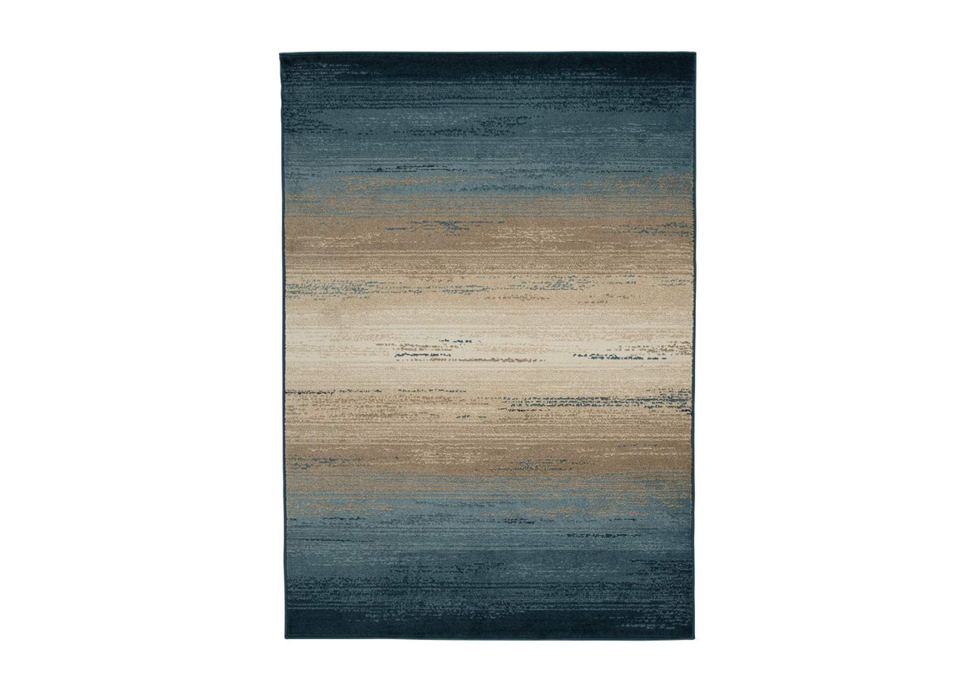 Ignacio Blue/Tan Medium Rug,Direct To Consumer Express