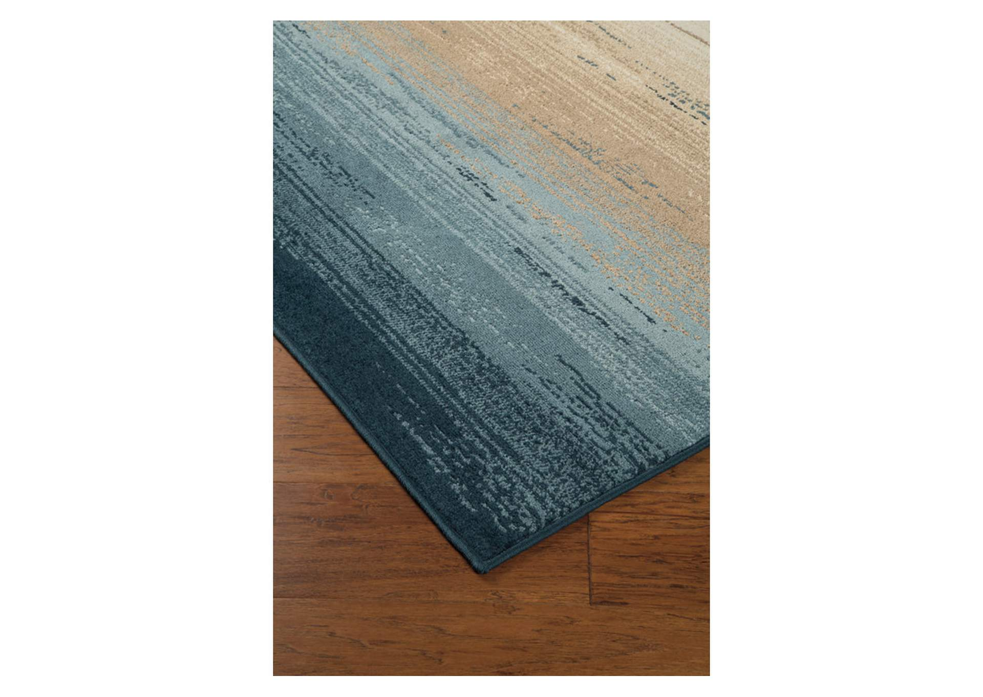 Ignacio Blue/Tan Large Rug,Direct To Consumer Express