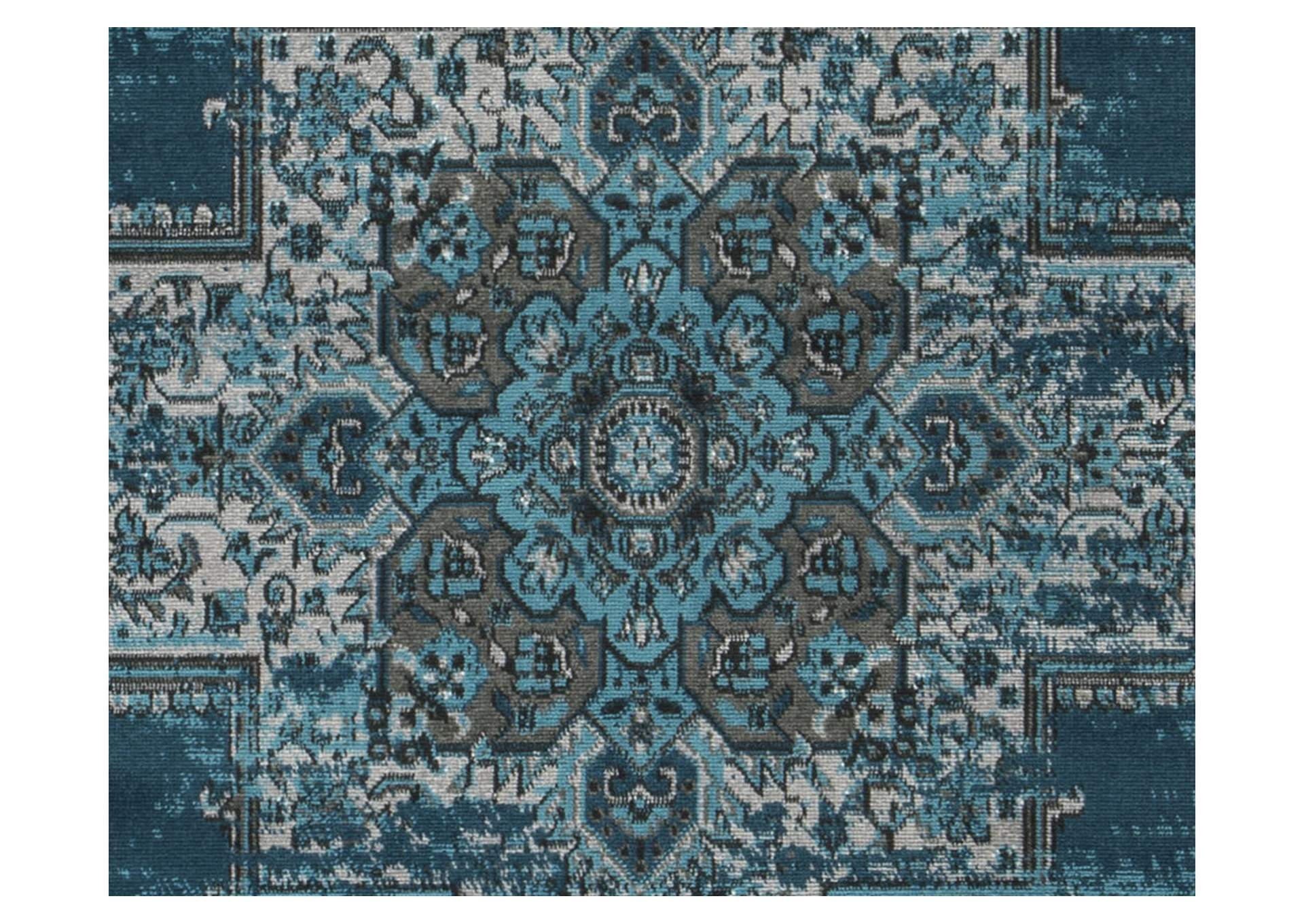 Moore Blue/Teal Large Rug,Direct To Consumer Express
