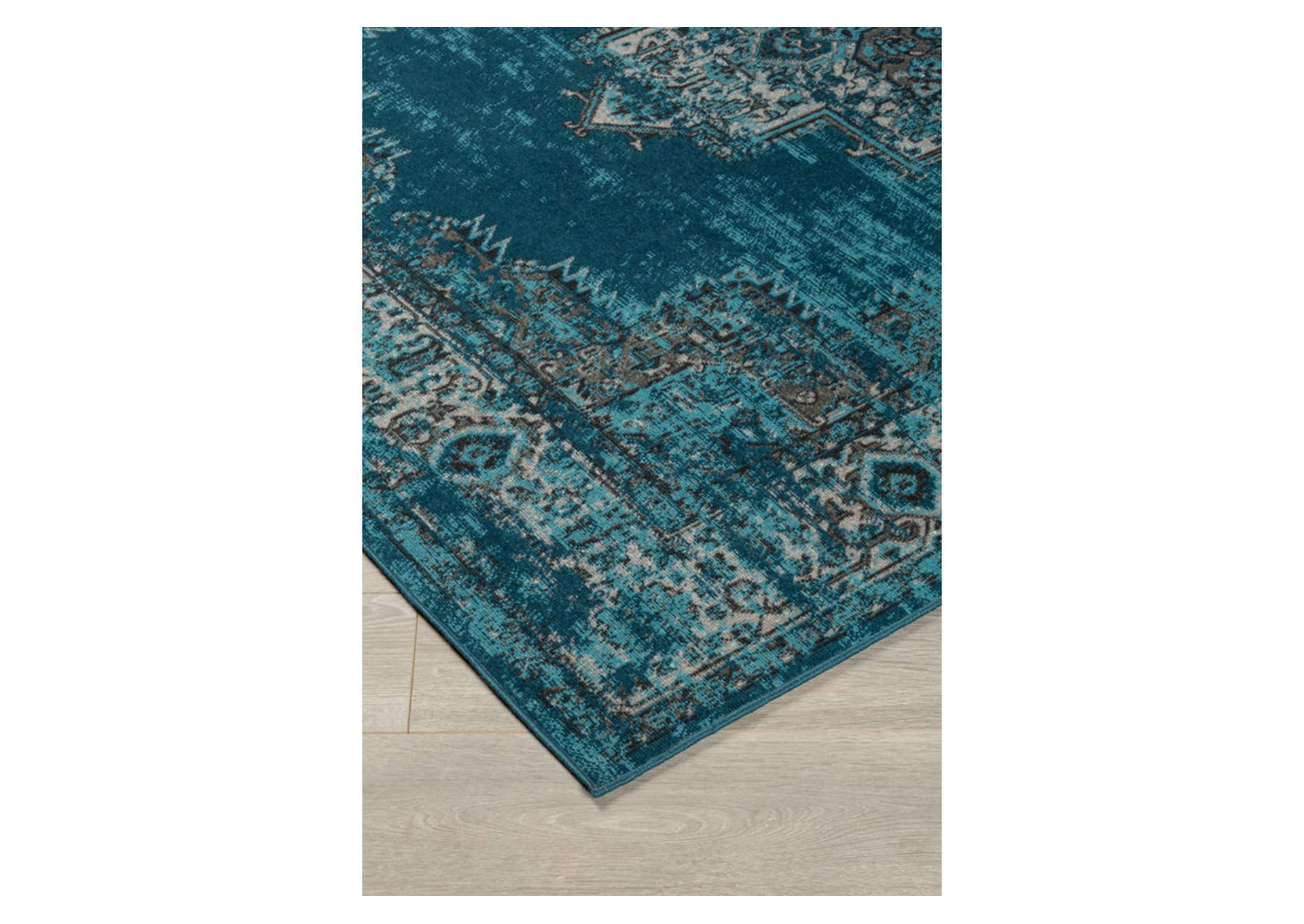Moore Blue/Teal Medium Rug,Direct To Consumer Express