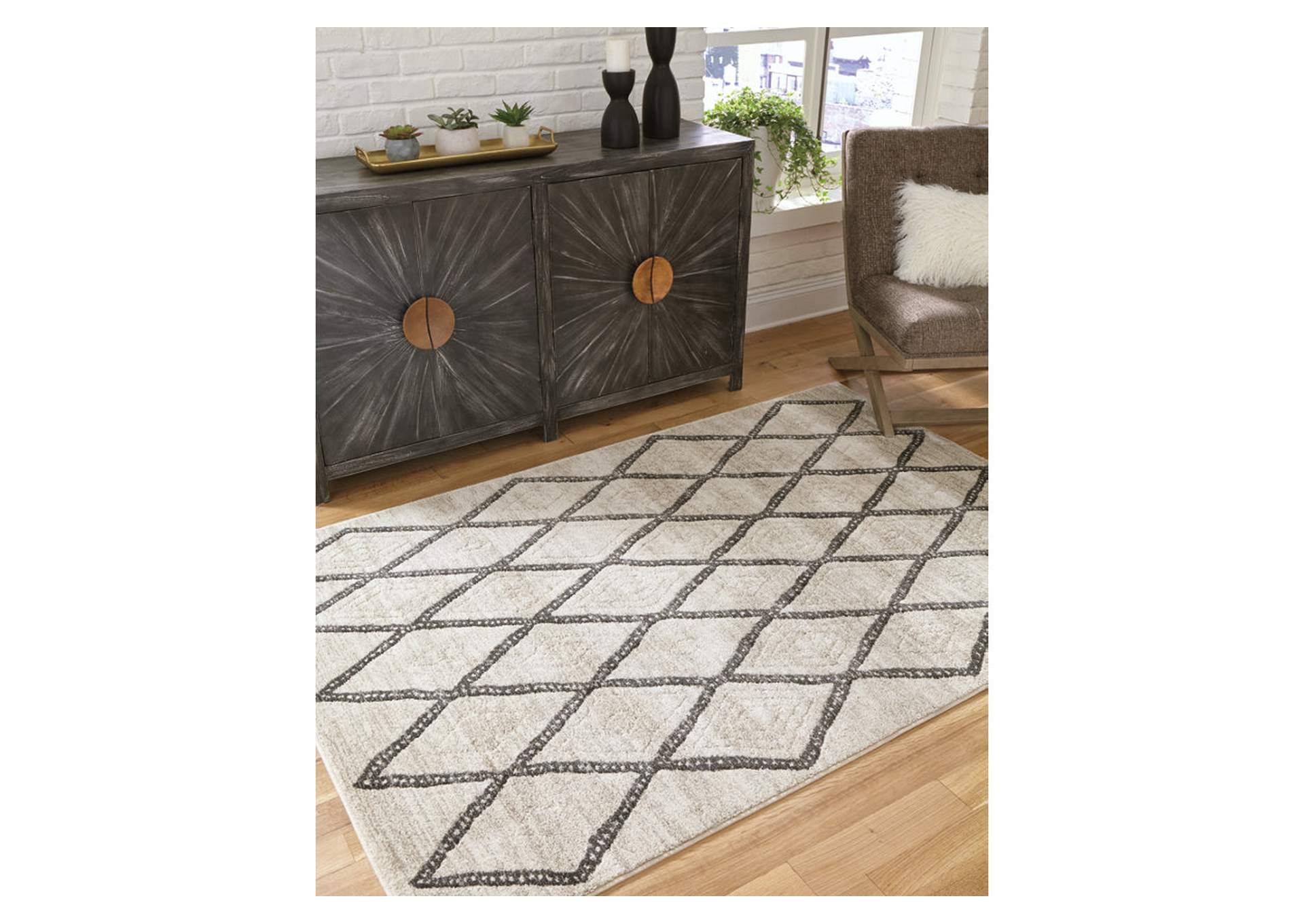 Jarmo Gray/Taupe Medium Rug,Direct To Consumer Express