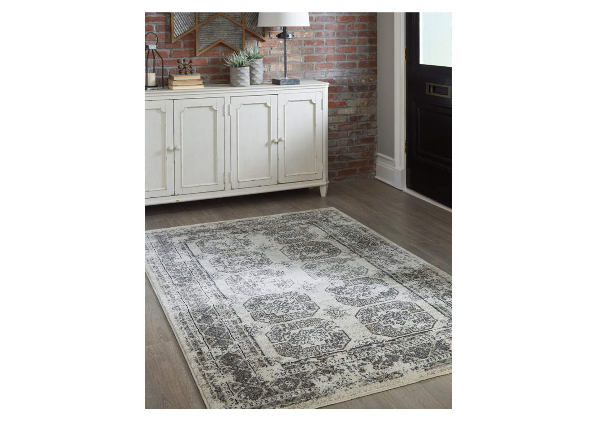 Jirou Gray/Taupe Medium Rug,Direct To Consumer Express