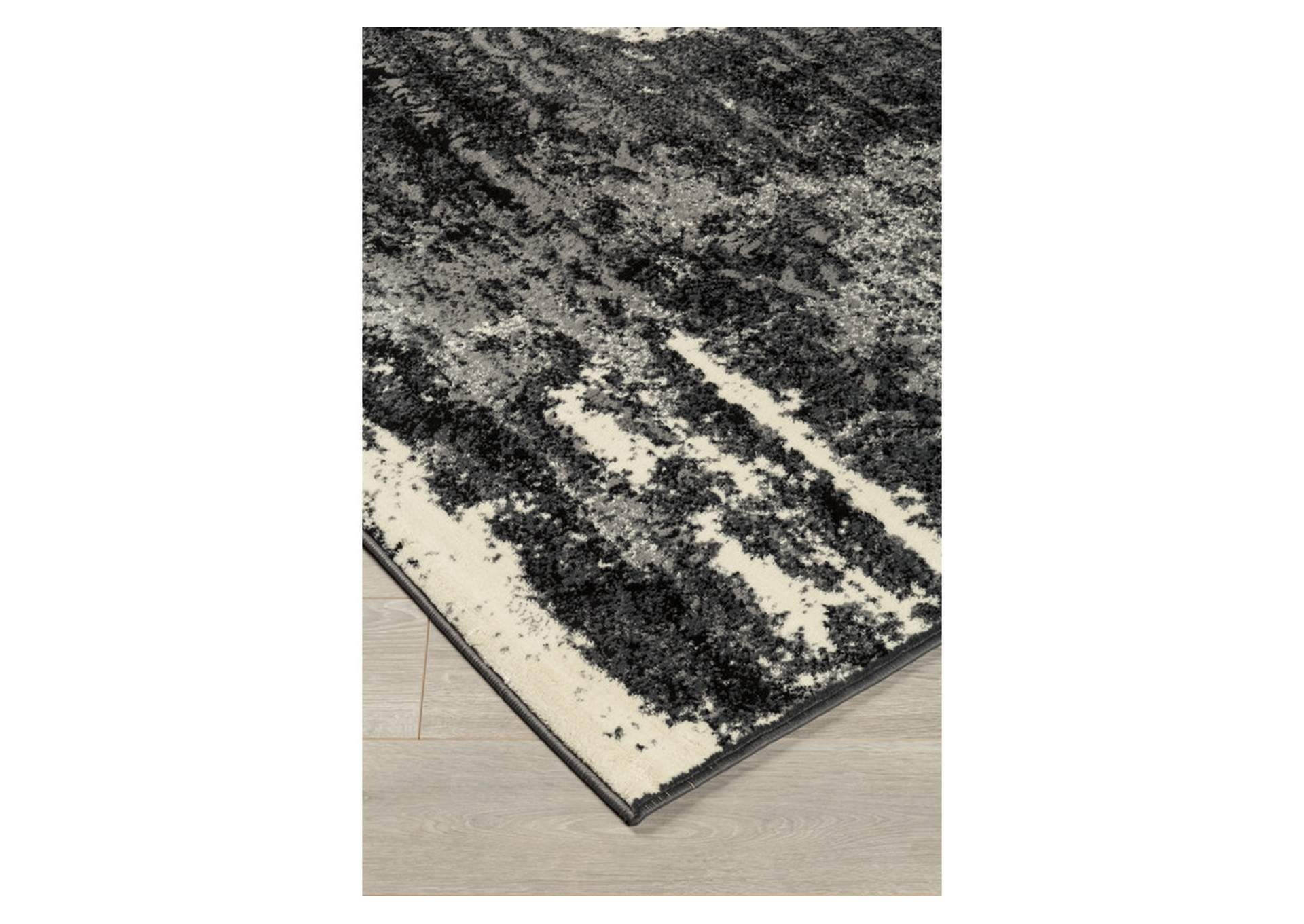 Roskos Black/Gray Medium Rug,Direct To Consumer Express
