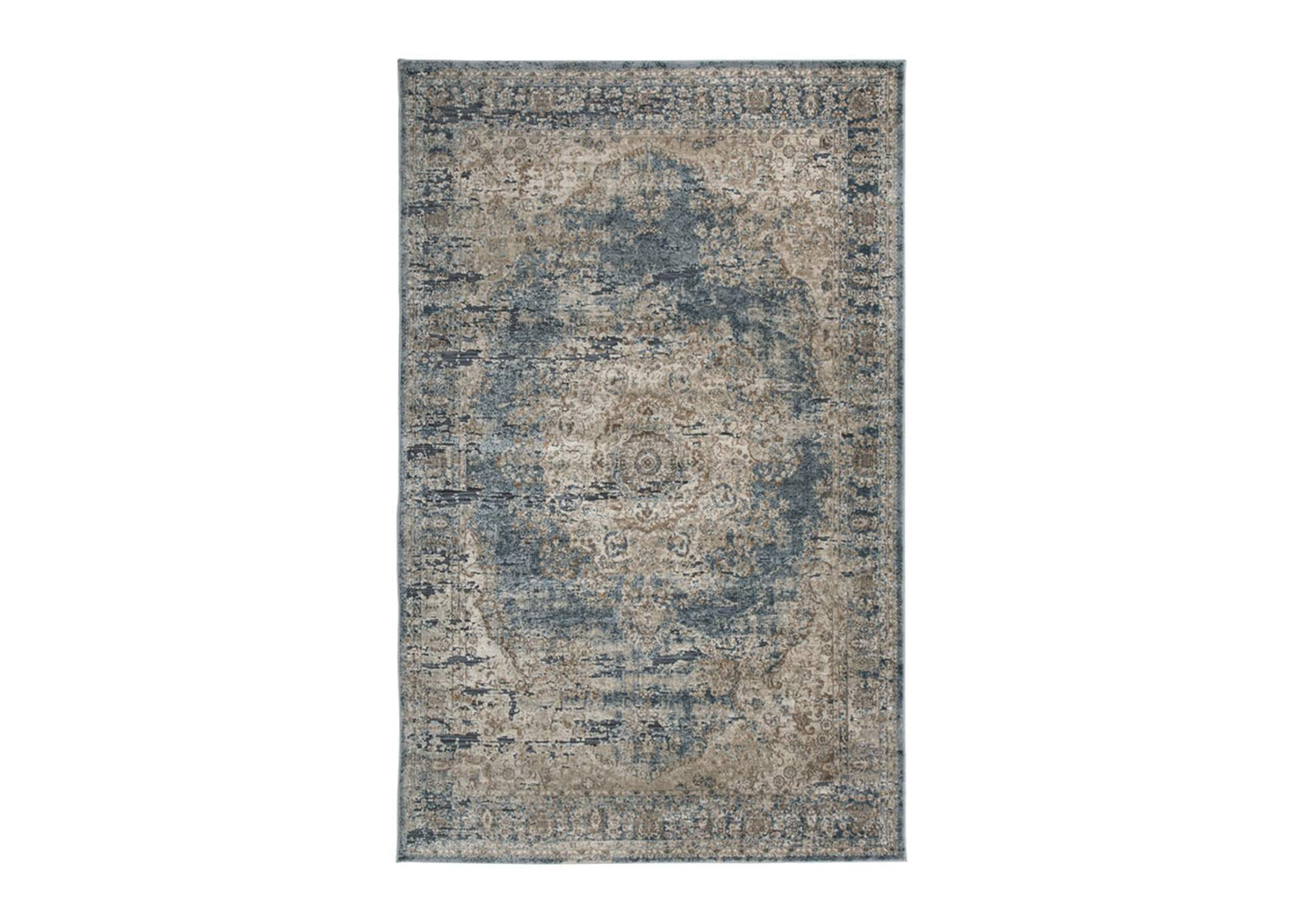 South Blue/Tan Large Rug,Direct To Consumer Express
