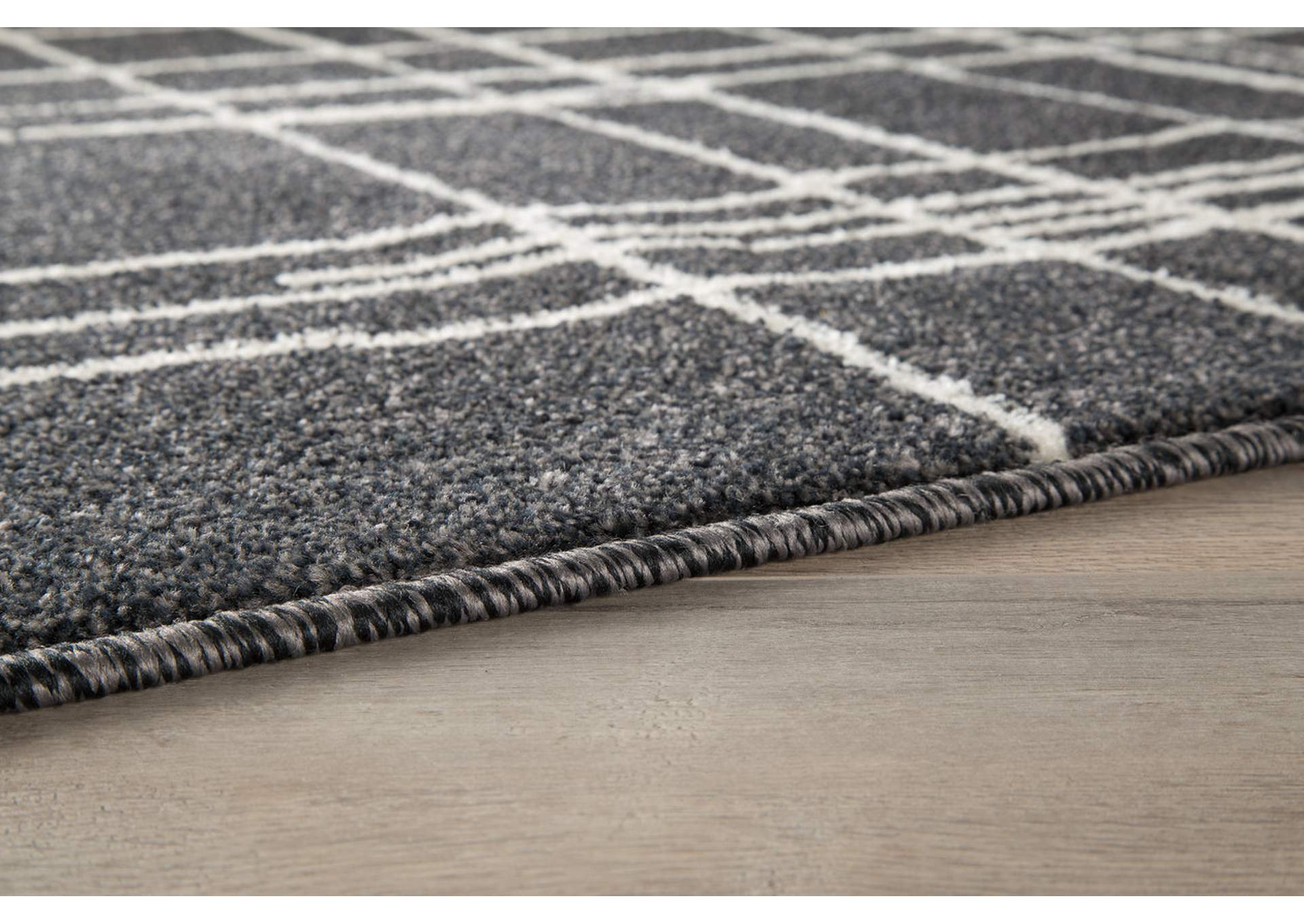 Jai Black/White Medium Rug,Direct To Consumer Express