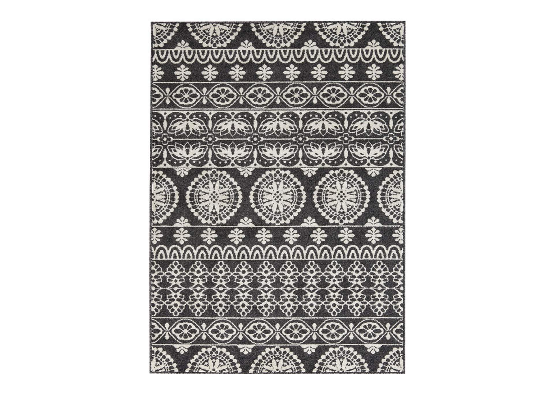 Jicarilla Black/White Large Rug,Direct To Consumer Express