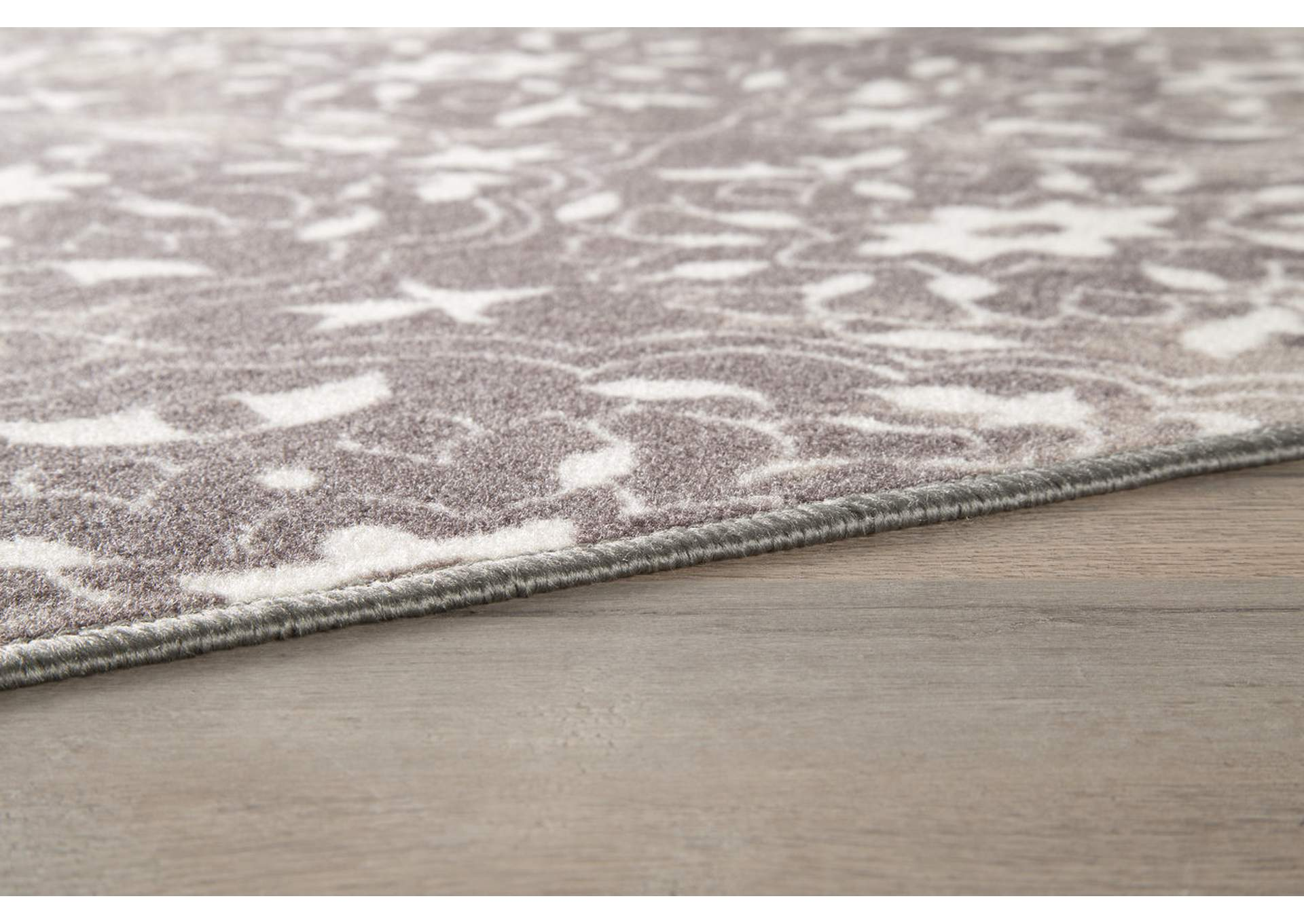 Jerilyn Gray/White Medium Rug,Signature Design By Ashley
