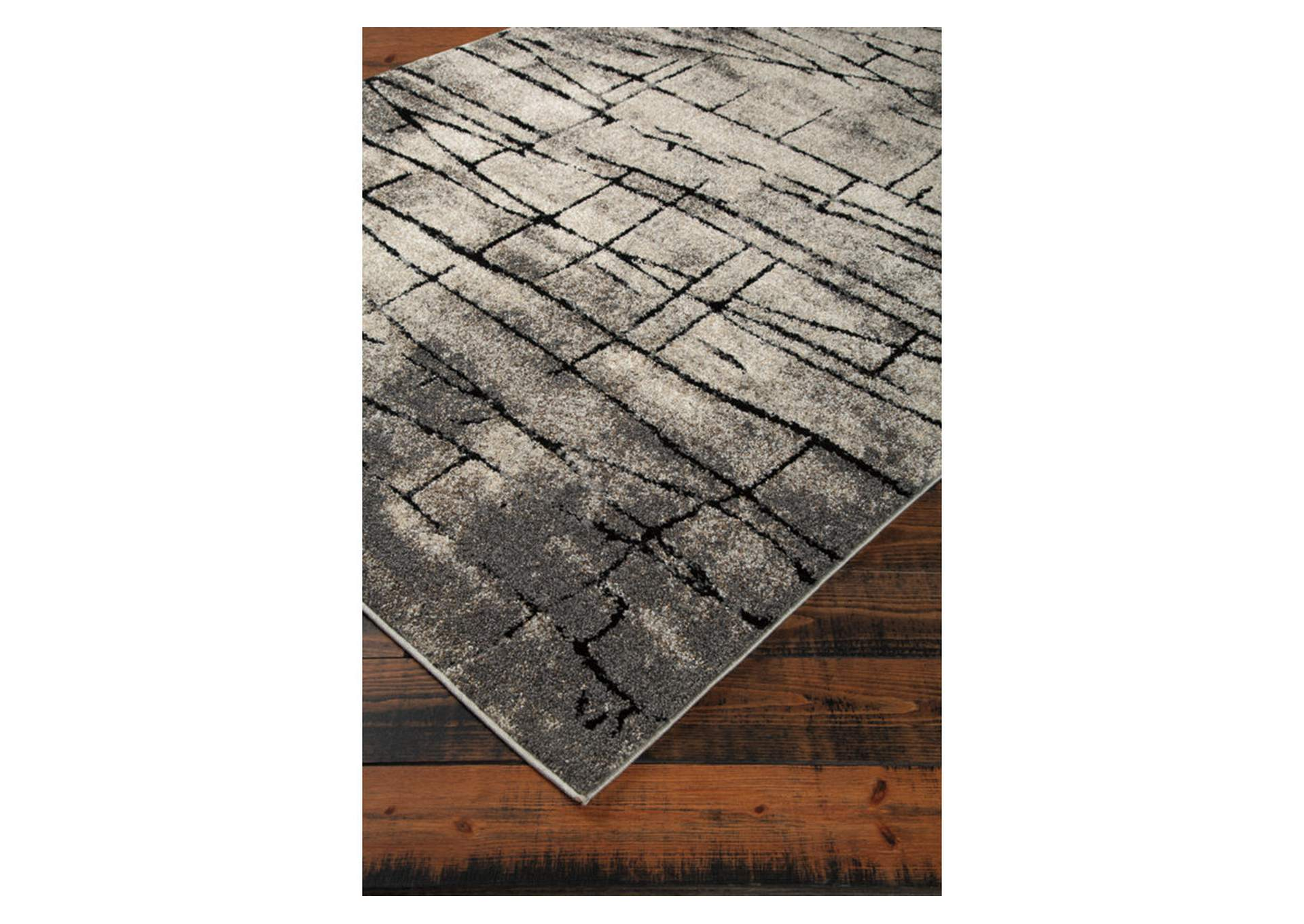 Casten Black/Tan Large Rug,Direct To Consumer Express