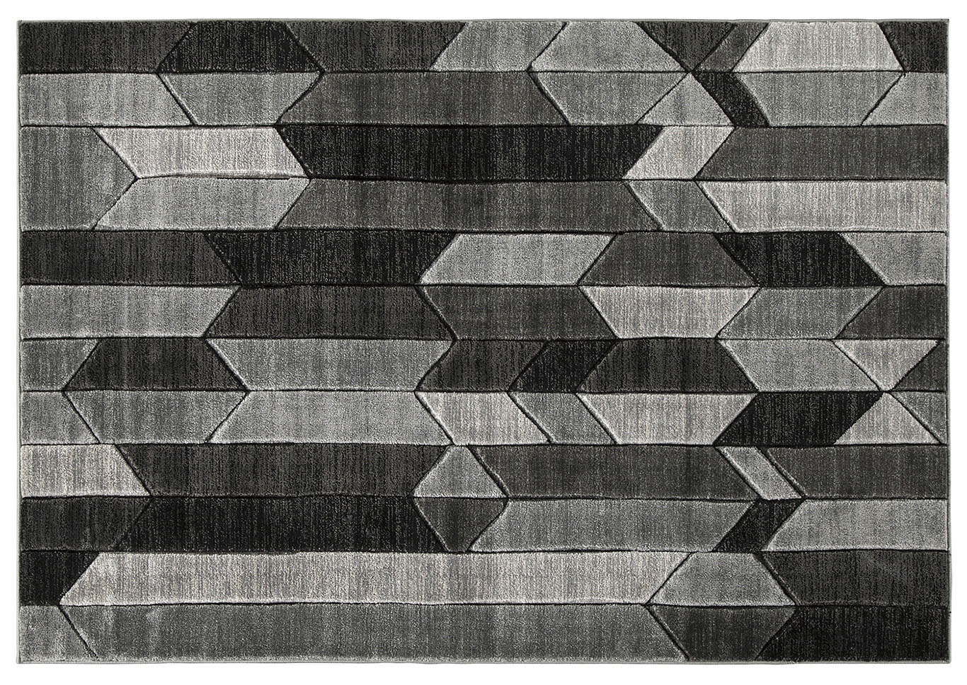 Chayse Black/Grey Medium Rug,Direct To Consumer Express