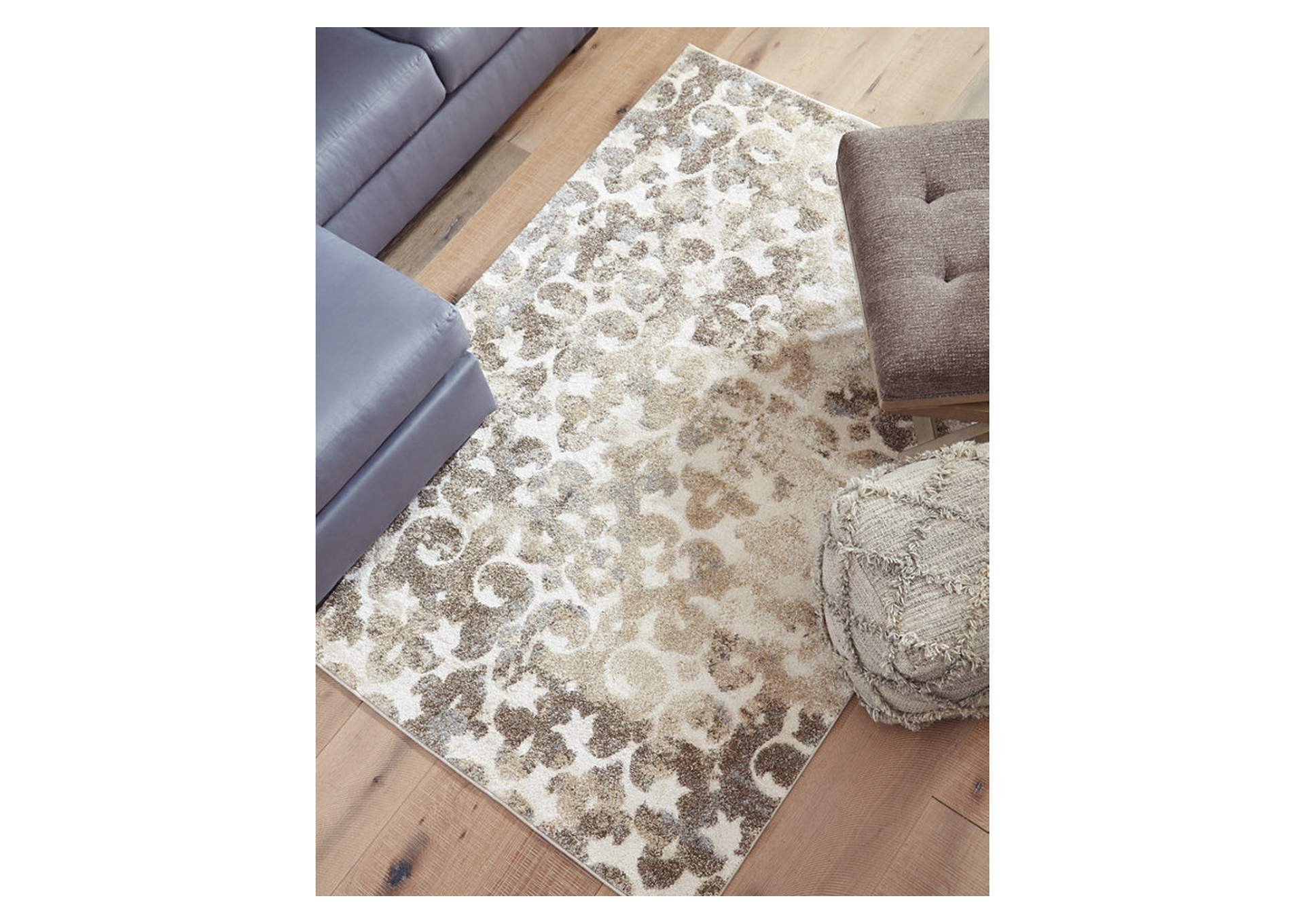 Jiro Brown/Cream Large Rug,Signature Design By Ashley
