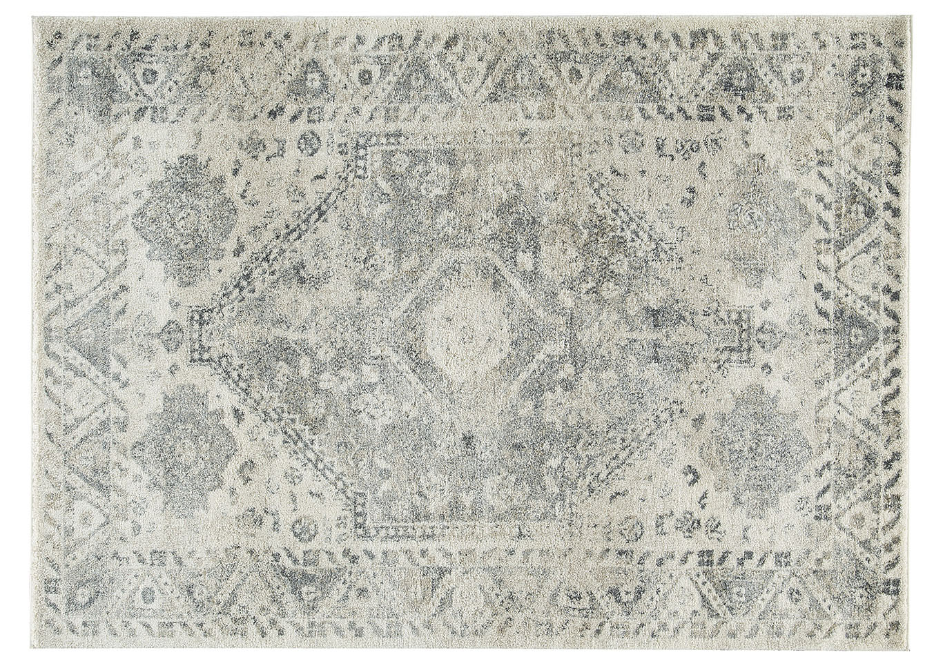 Precia Gray/Cream Large Rug,Signature Design By Ashley