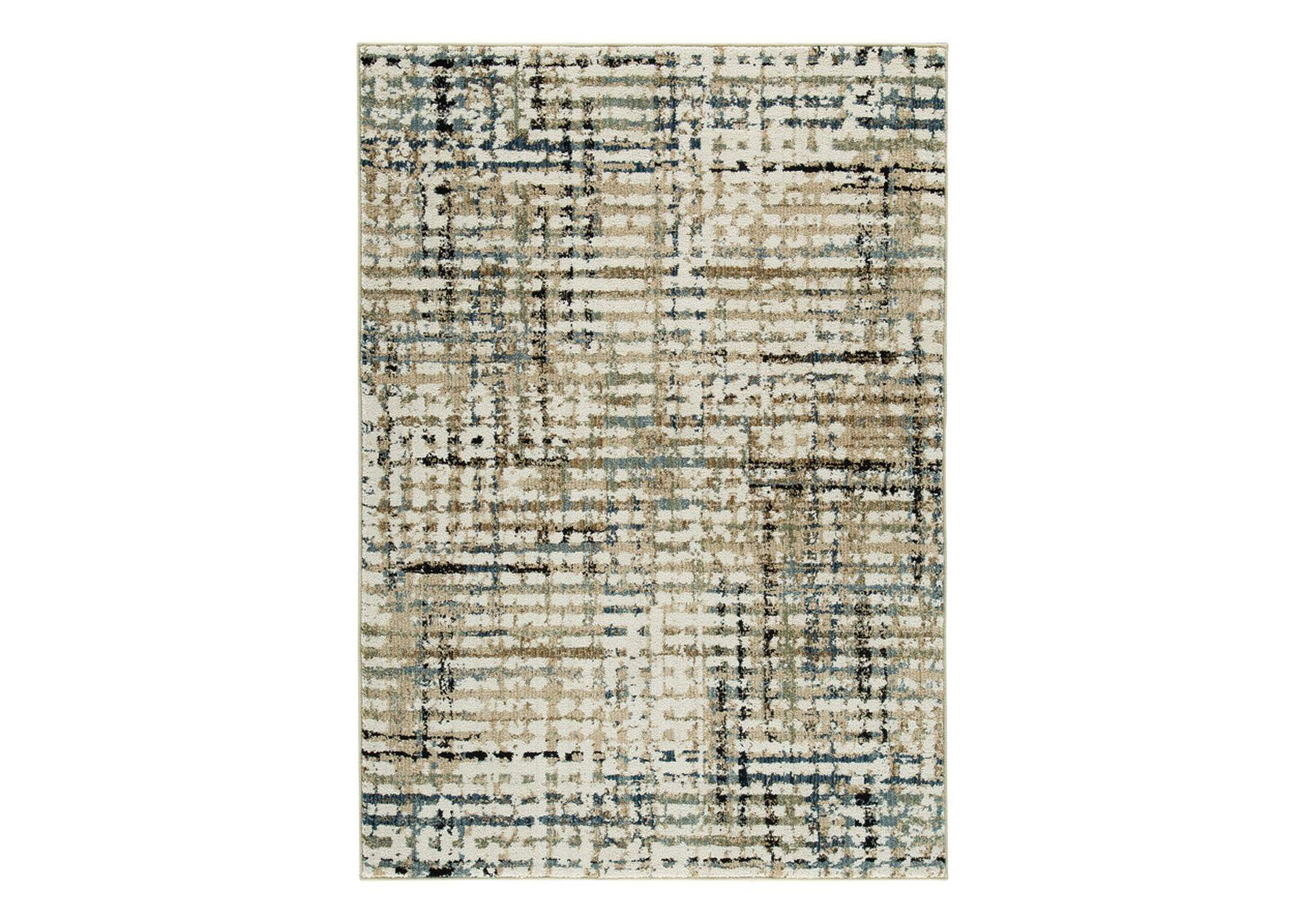 Mahina Tan/Blue/Cream Medium Rug,Signature Design By Ashley