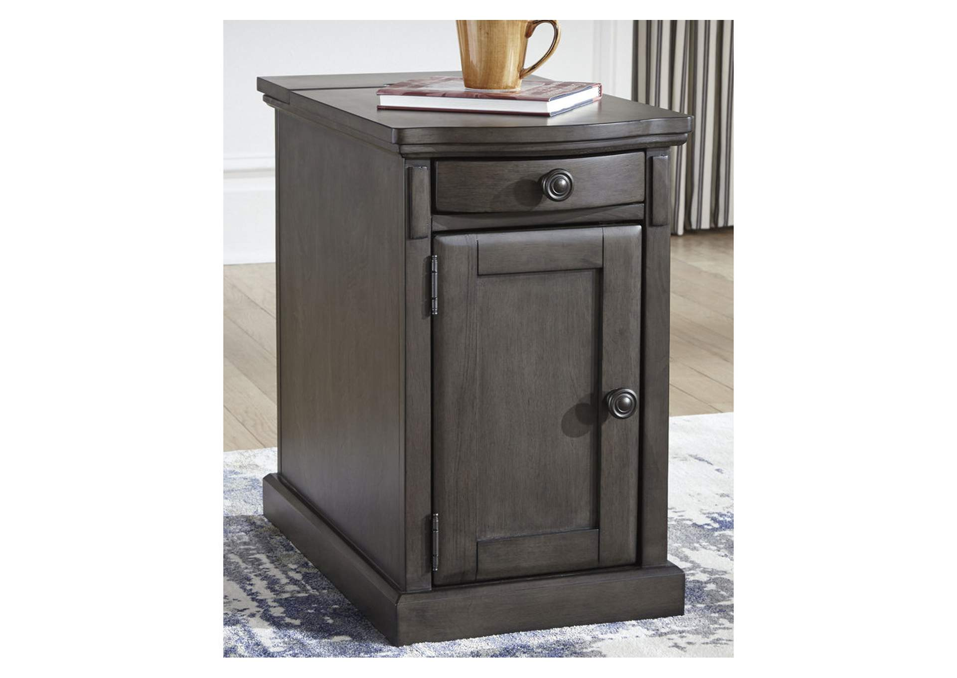 Laflorn Gray Chair Side End Table,Signature Design By Ashley