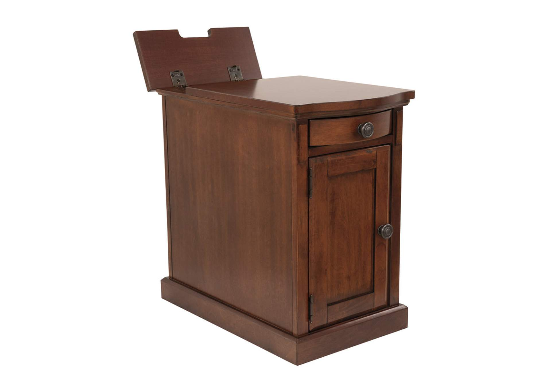 Medium Brown Power Chairside End Table,Direct To Consumer Express