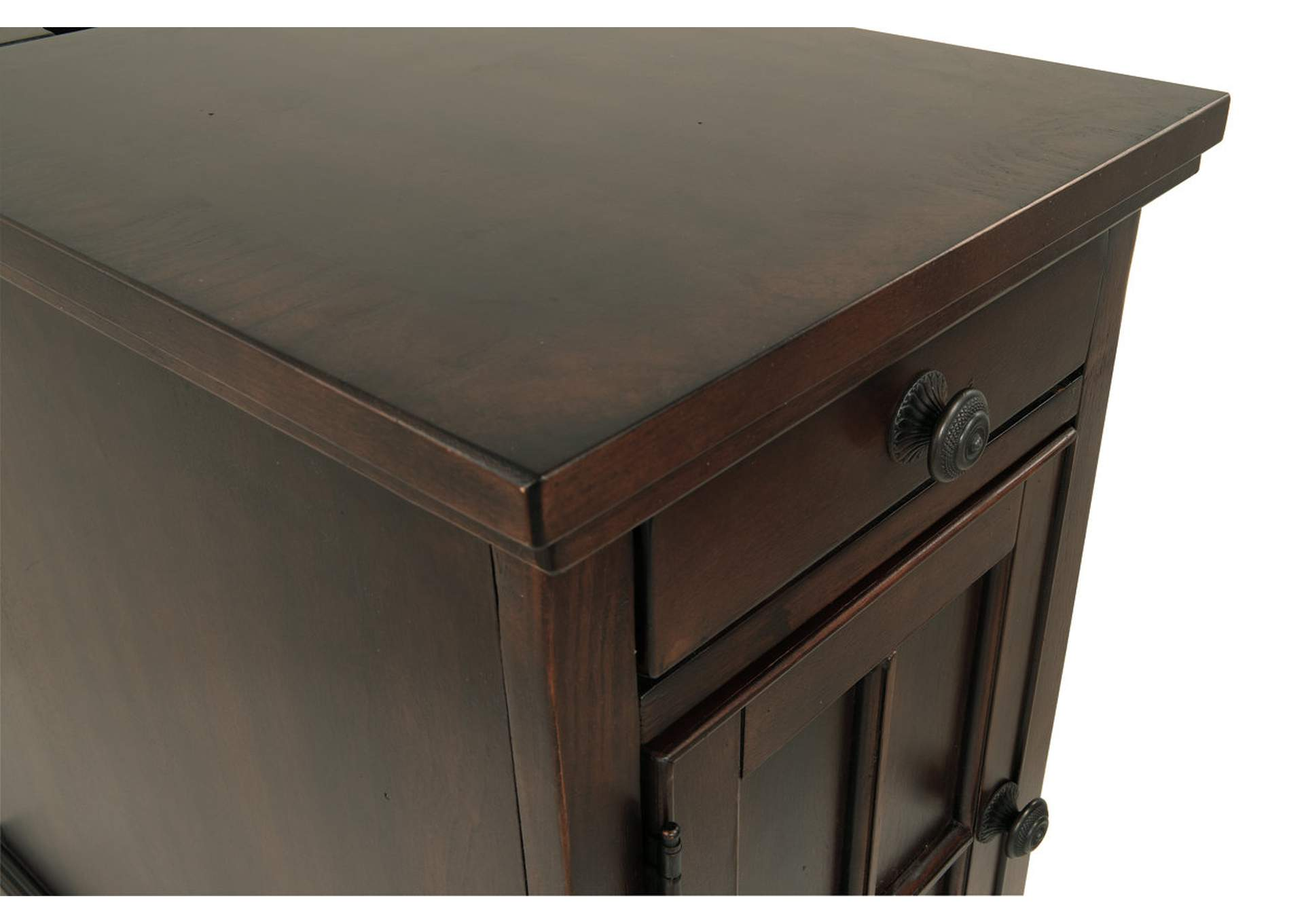 Dark Brown Power Chairside End Table,Direct To Consumer Express