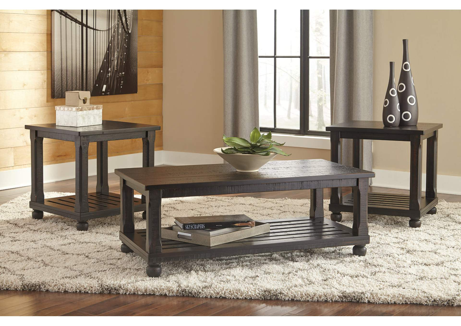 Mallacar Black Occasional Table Set,Signature Design By Ashley