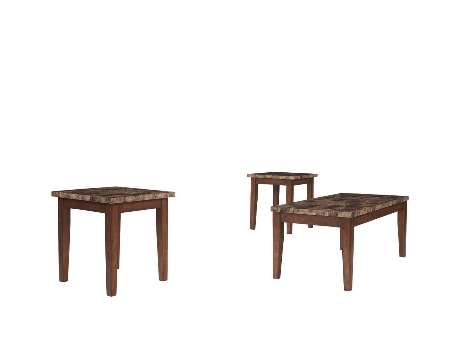 Theo Occasional Table Set (Cocktail & 2 Ends),Signature Design By Ashley