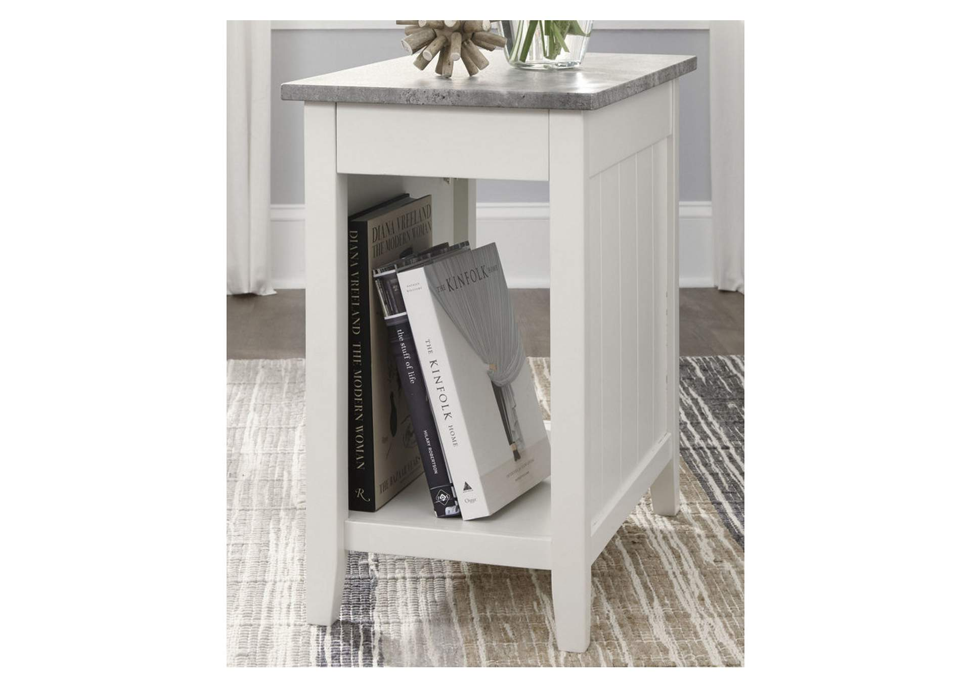 Diamenton White Chair Side End Table,Direct To Consumer Express