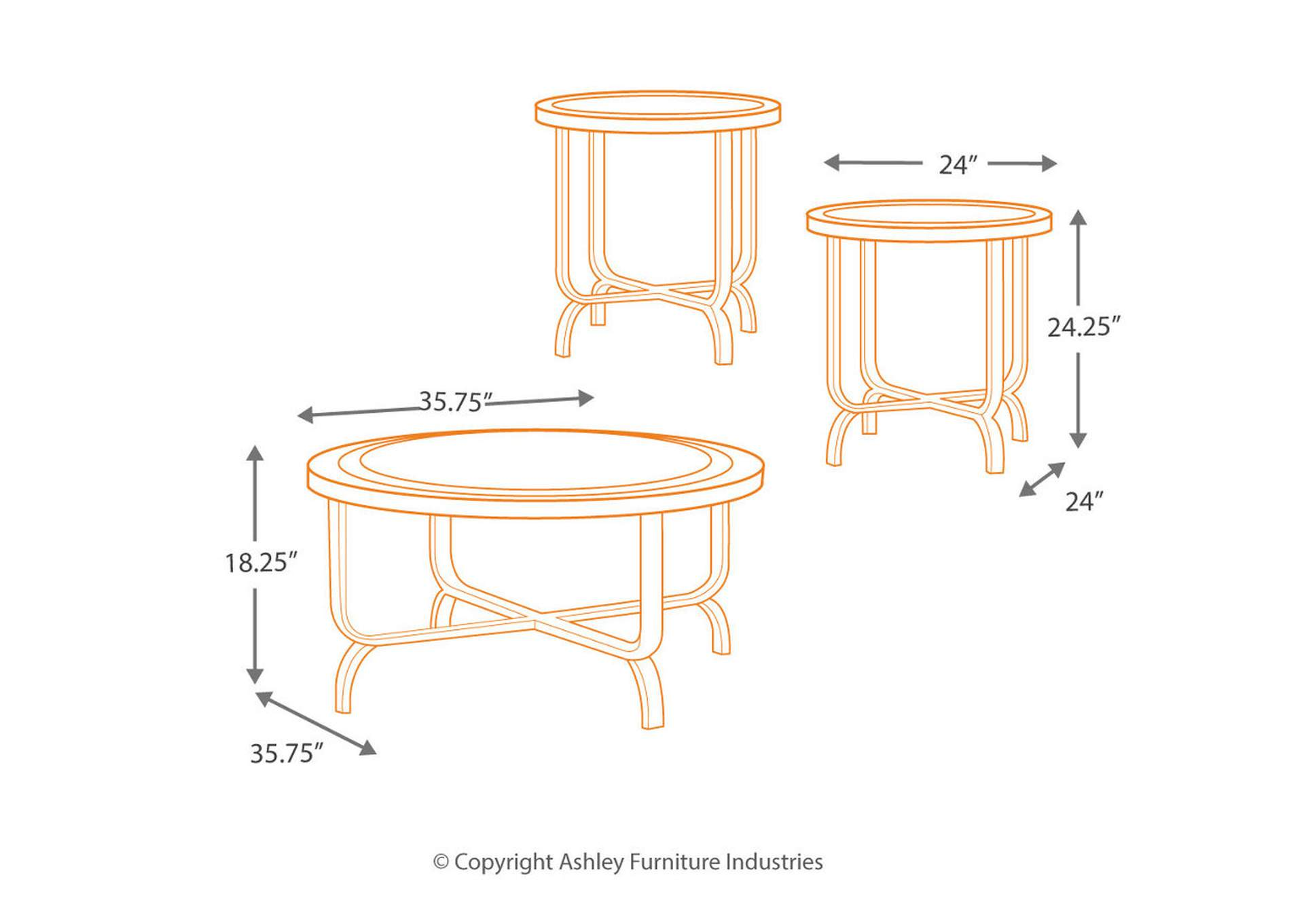 Ferlin Occasional Table Set (Cocktail & 2 Ends),Direct To Consumer Express
