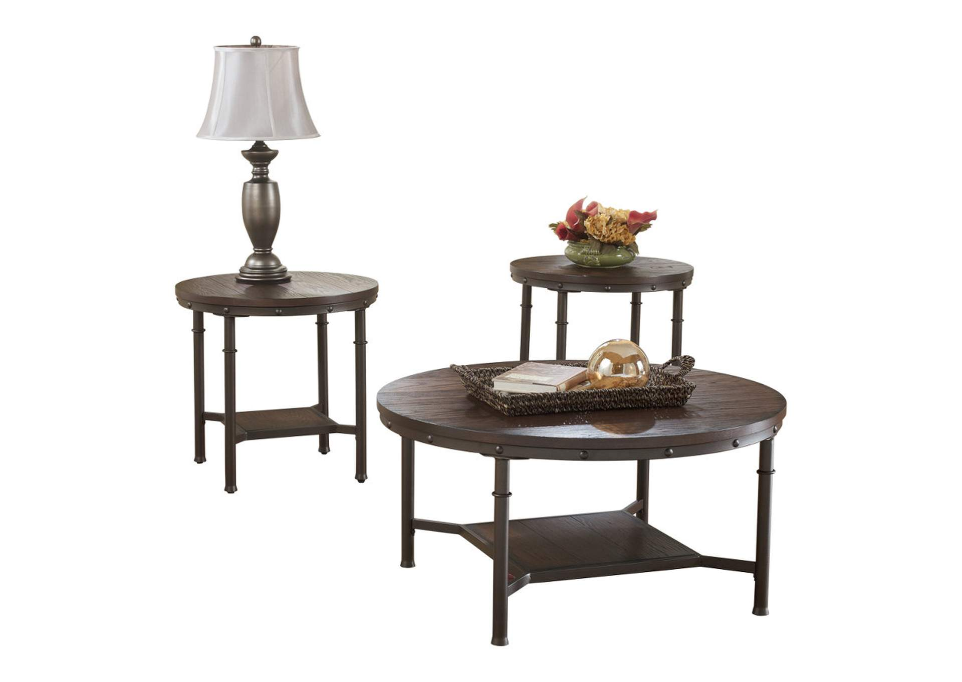 Sandling Occasional Table Set (Cocktail & 2 Ends),Direct To Consumer Express