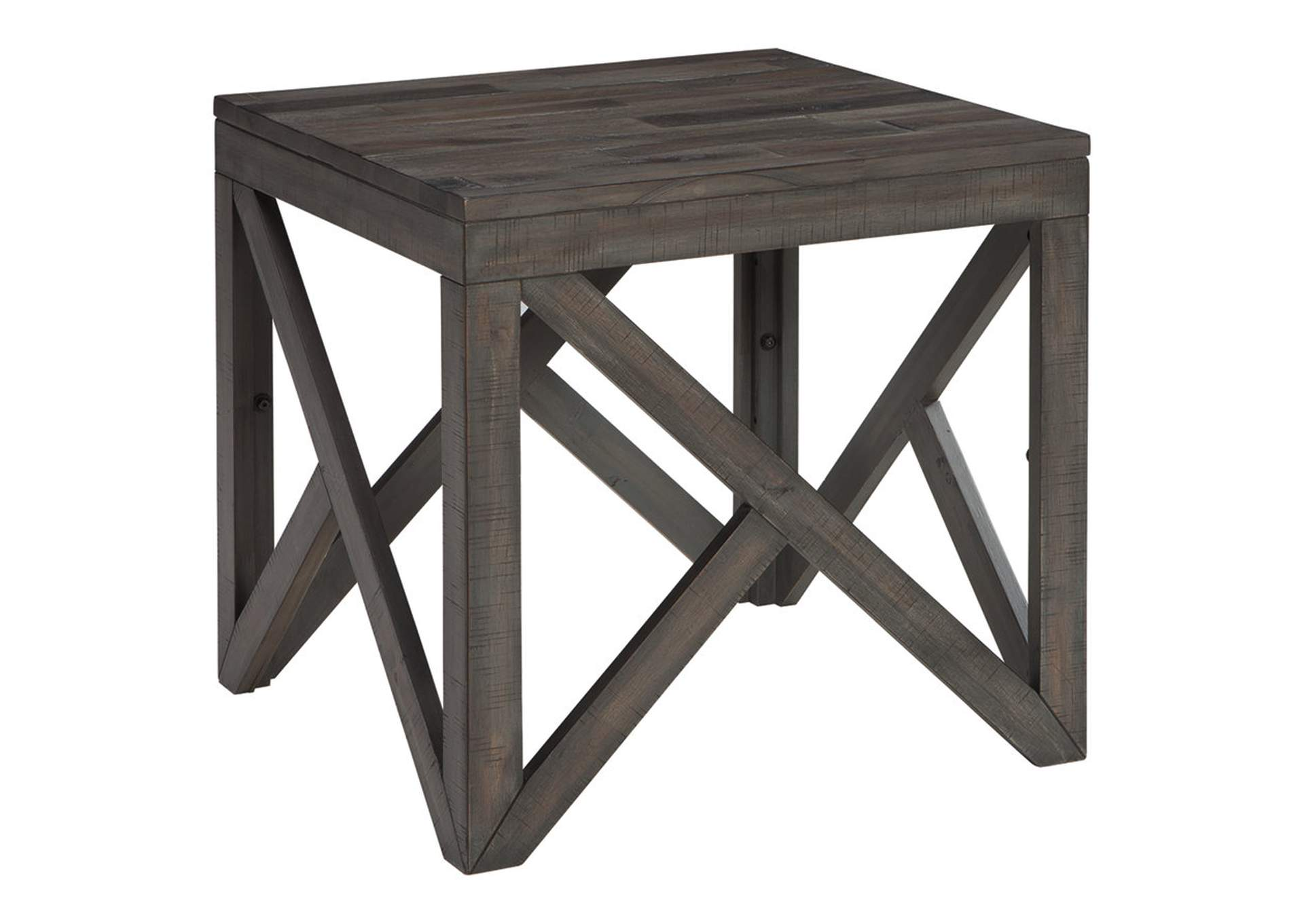Haroflyn Gray Square End Table,Direct To Consumer Express