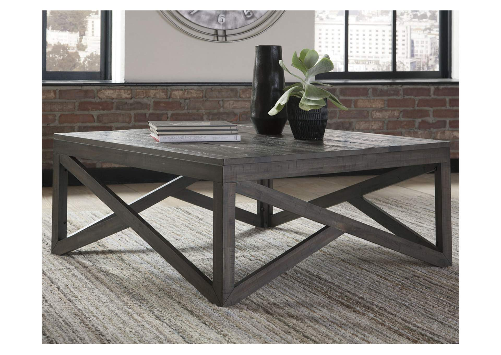 Haroflyn Gray Square Cocktail Table,Signature Design By Ashley