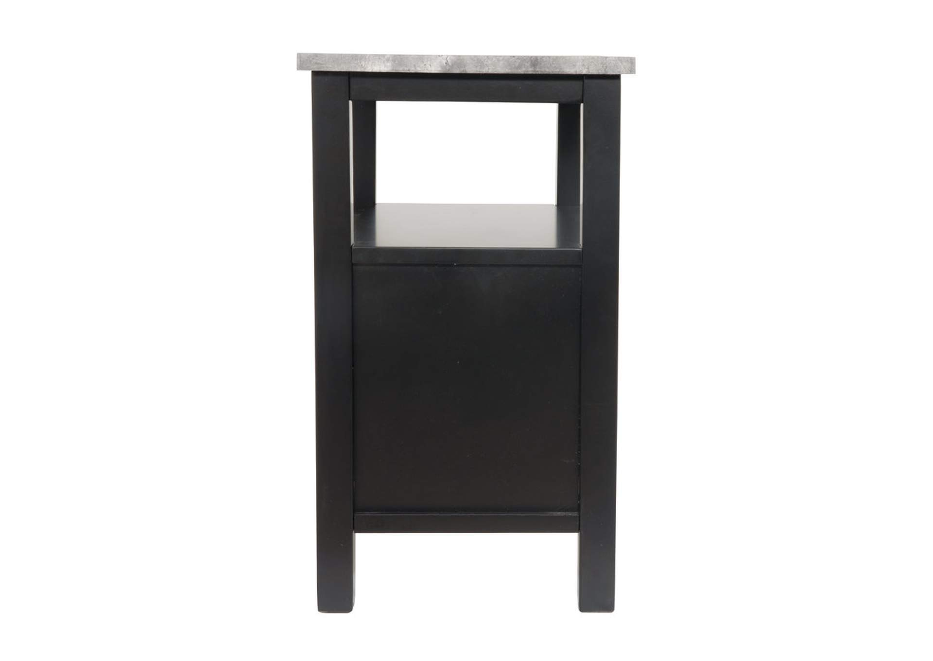 Ezmonei Black/Gray Chair Side End Table,Signature Design By Ashley