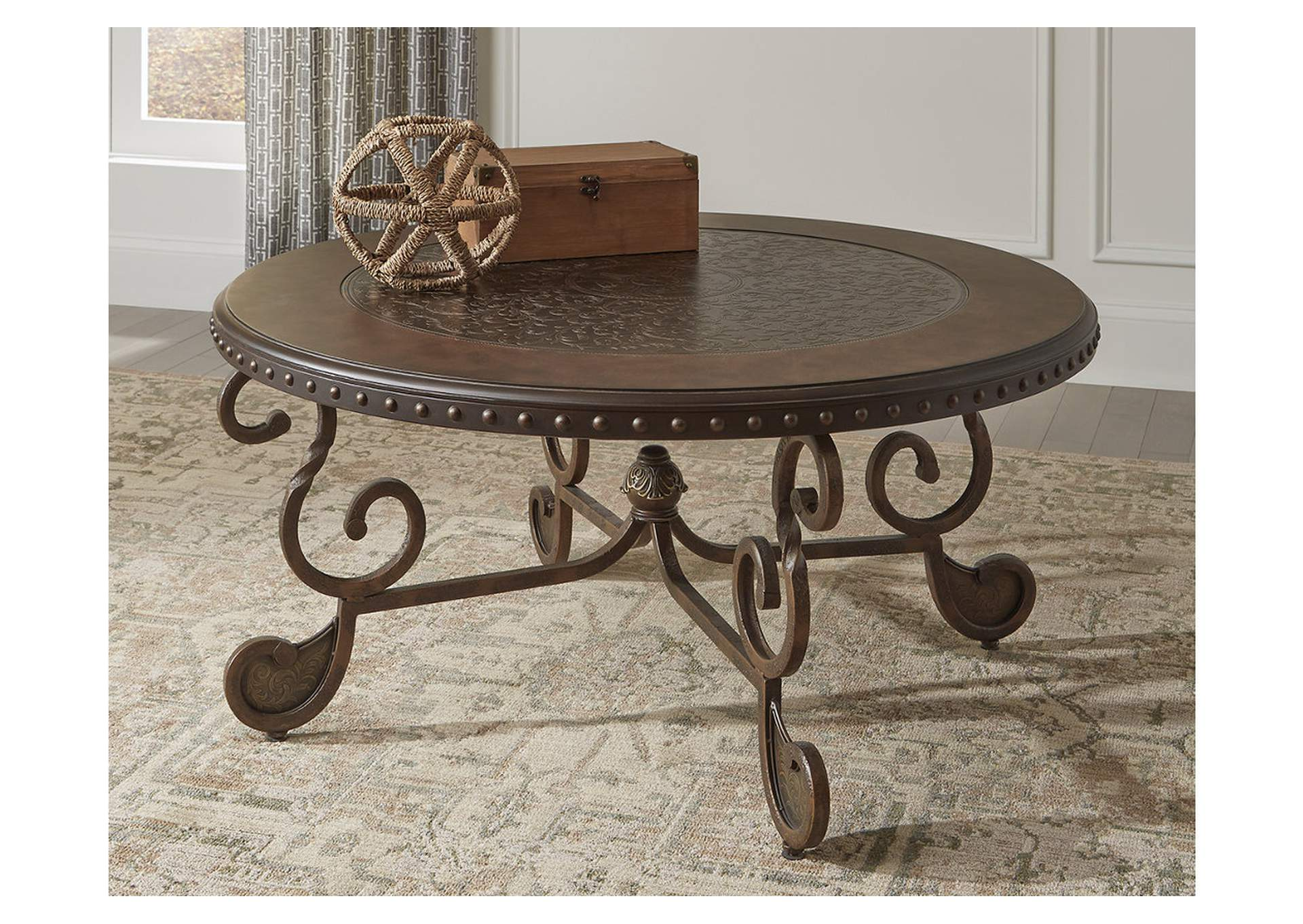 Rafferty Round Cocktail Table,Direct To Consumer Express