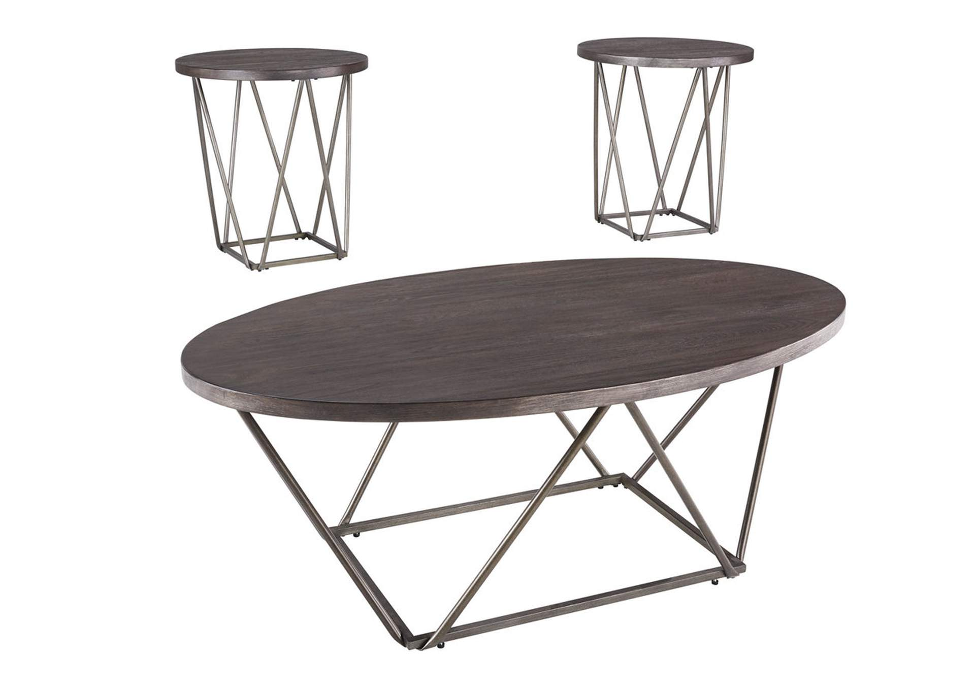 Neimhurst Dark Brown Occasional Table Set (Set of 3),Direct To Consumer Express