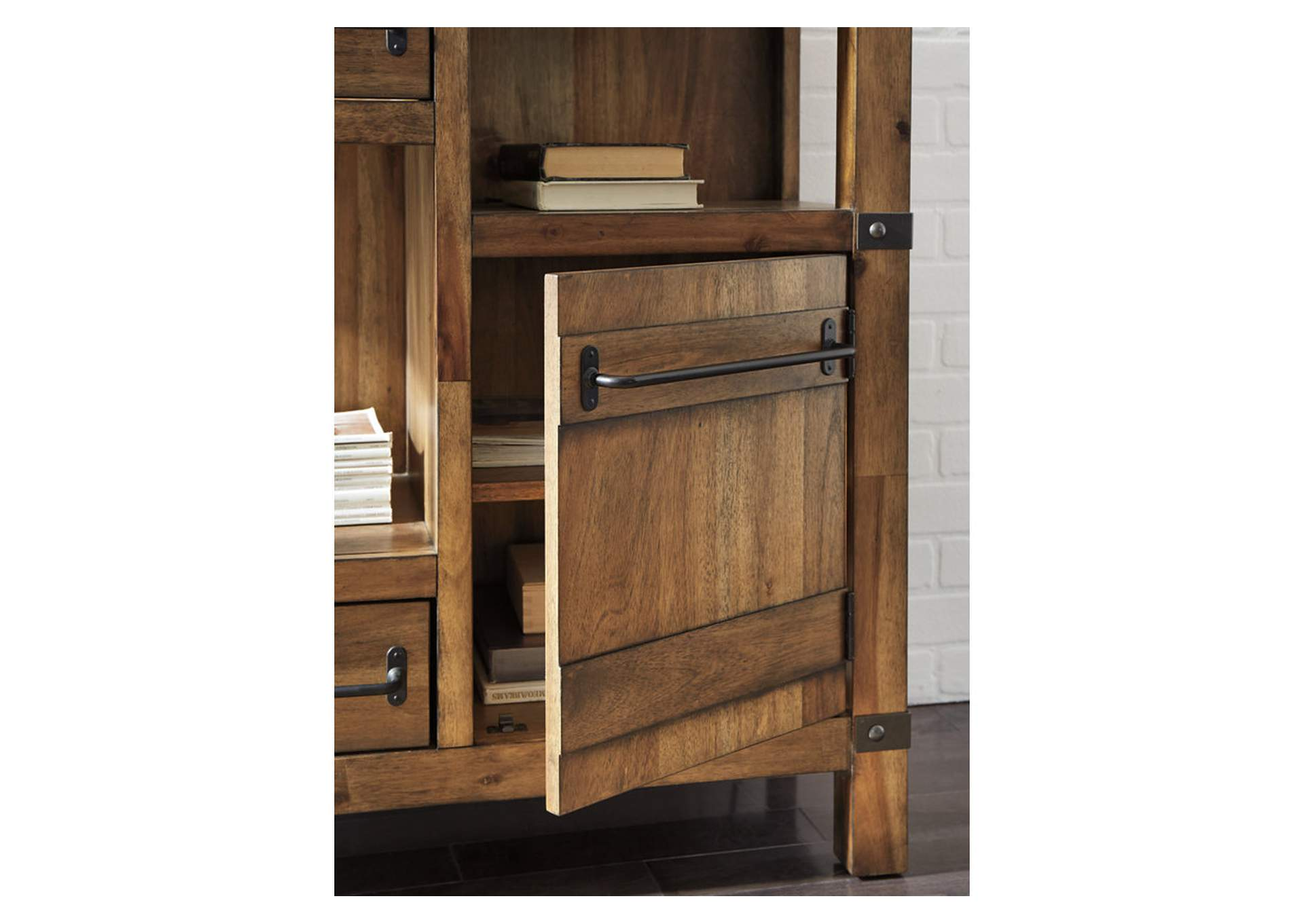Roybeck Light Brown/Bronze Accent Cabinet,Signature Design By Ashley