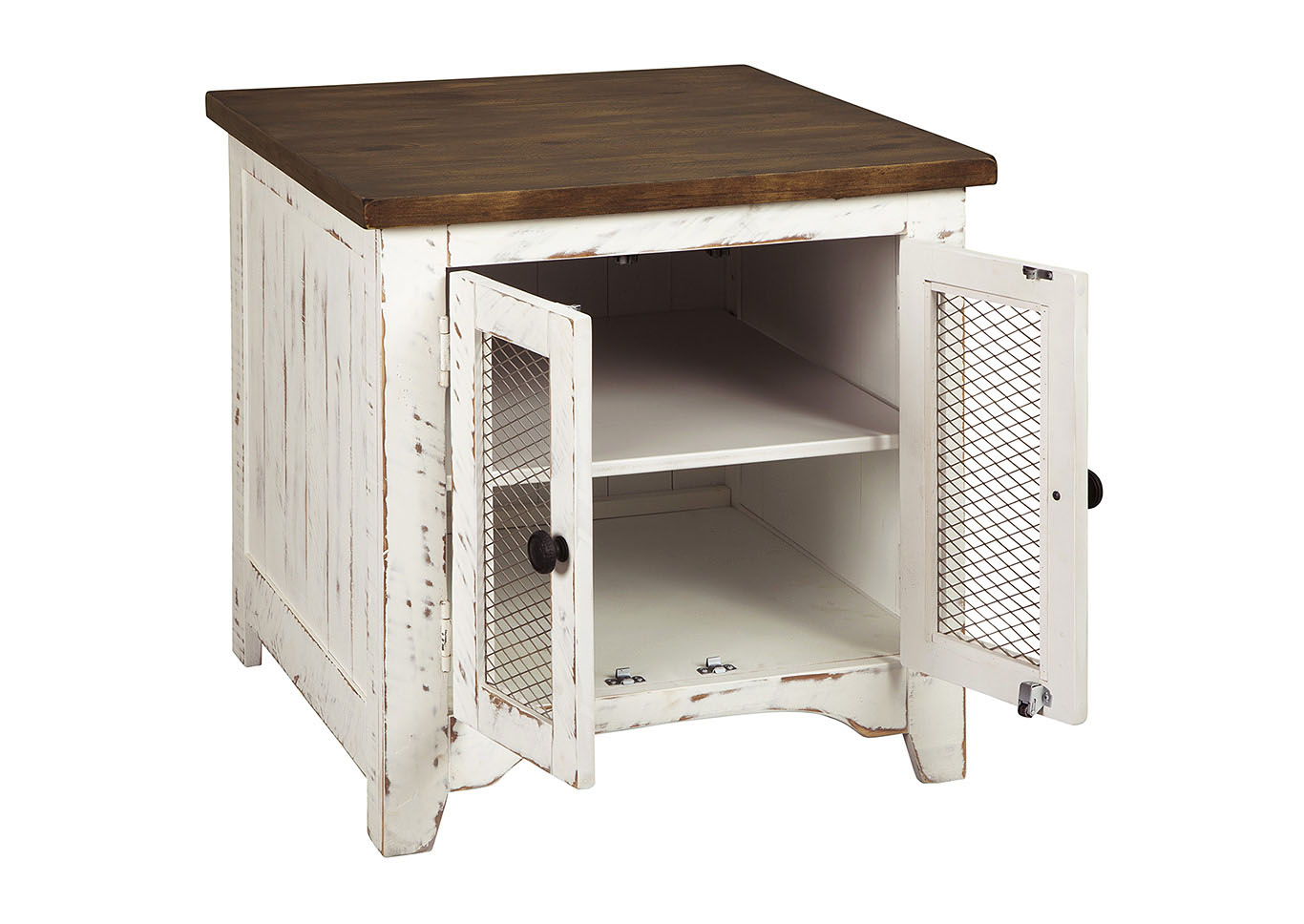 Wystfield White Rectangular End Table,Signature Design By Ashley