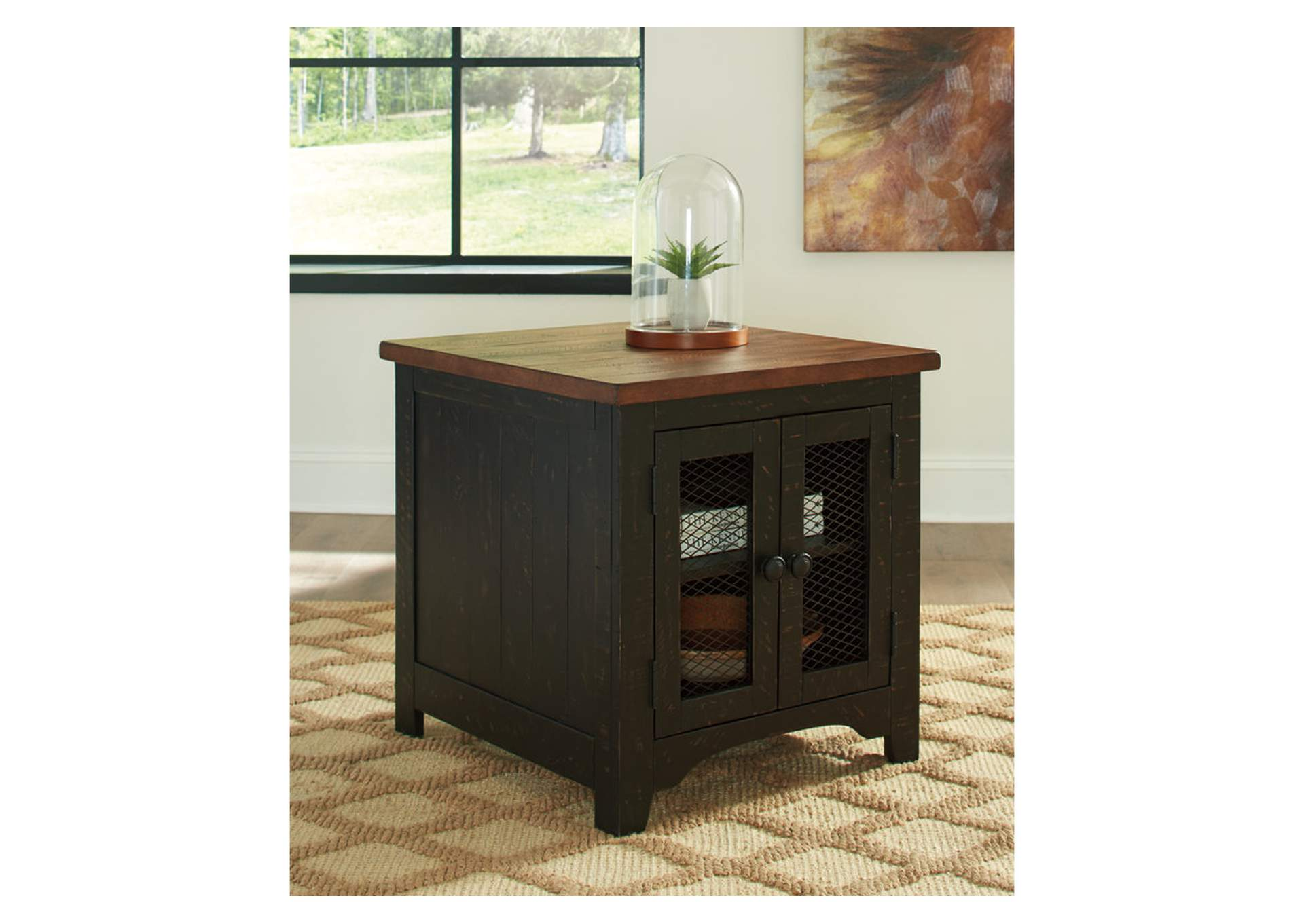 Valebeck Black Rectangular End Table,Signature Design By Ashley