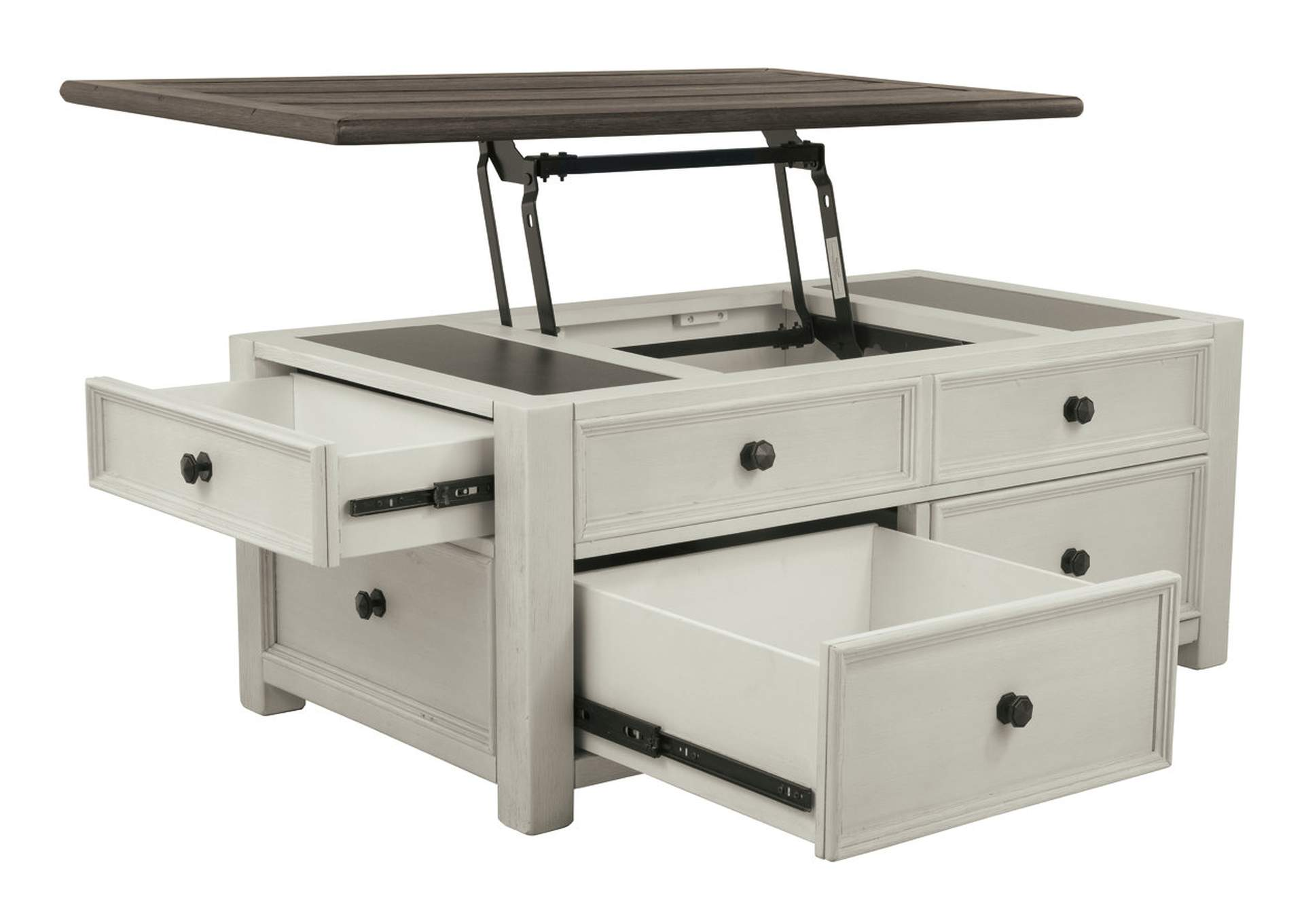 Bolanburg Two-tone Lift Top Cocktail Table,Direct To Consumer Express