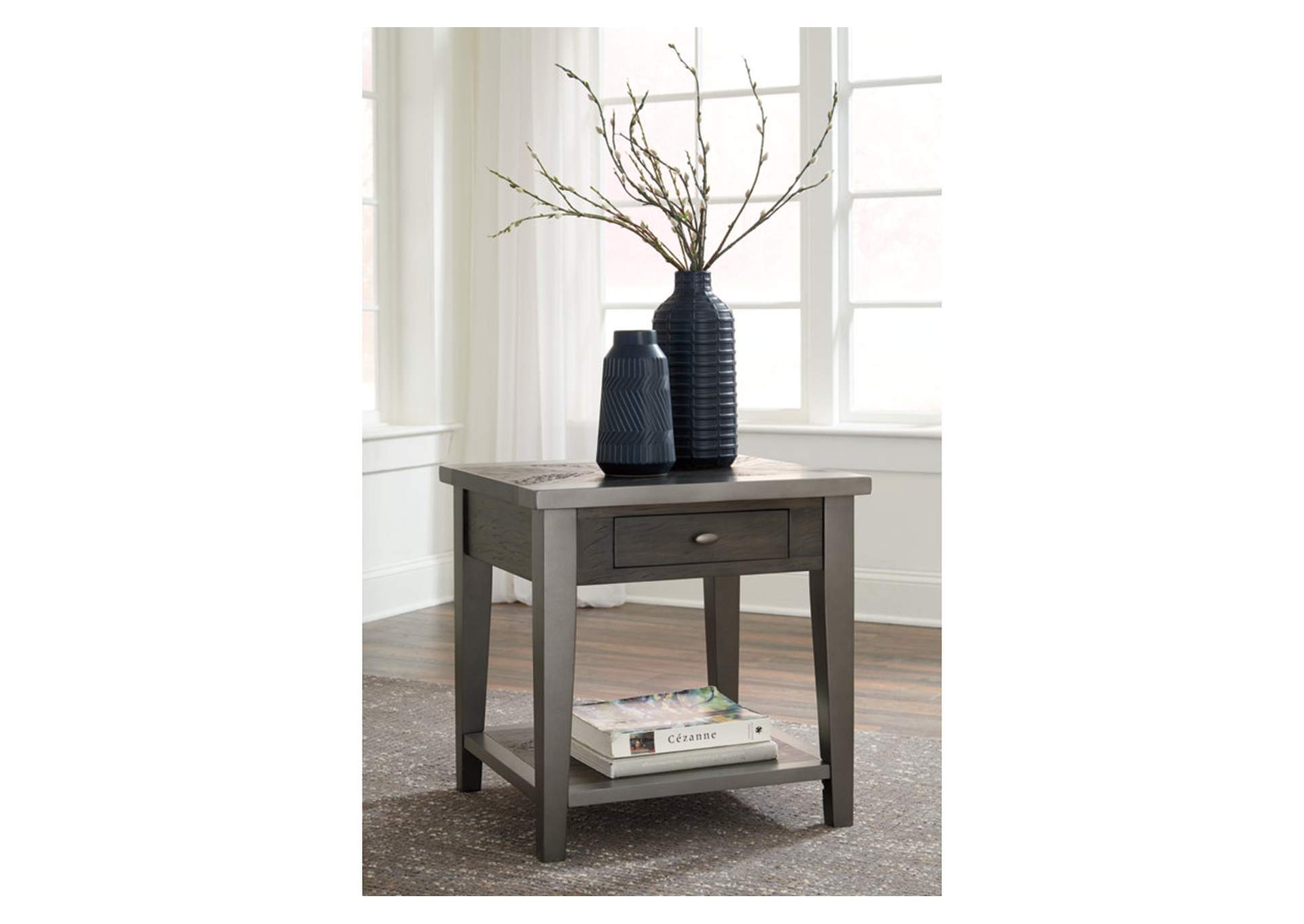Branbury Gray Rectangular End Table,Direct To Consumer Express