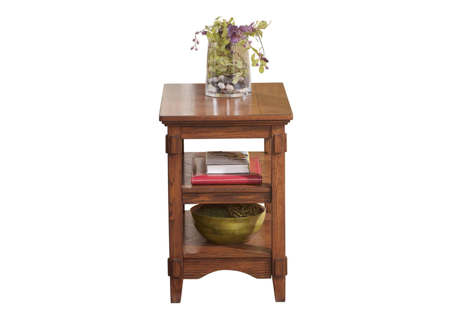 Cross Island Brown Chairside End Table,Direct To Consumer Express