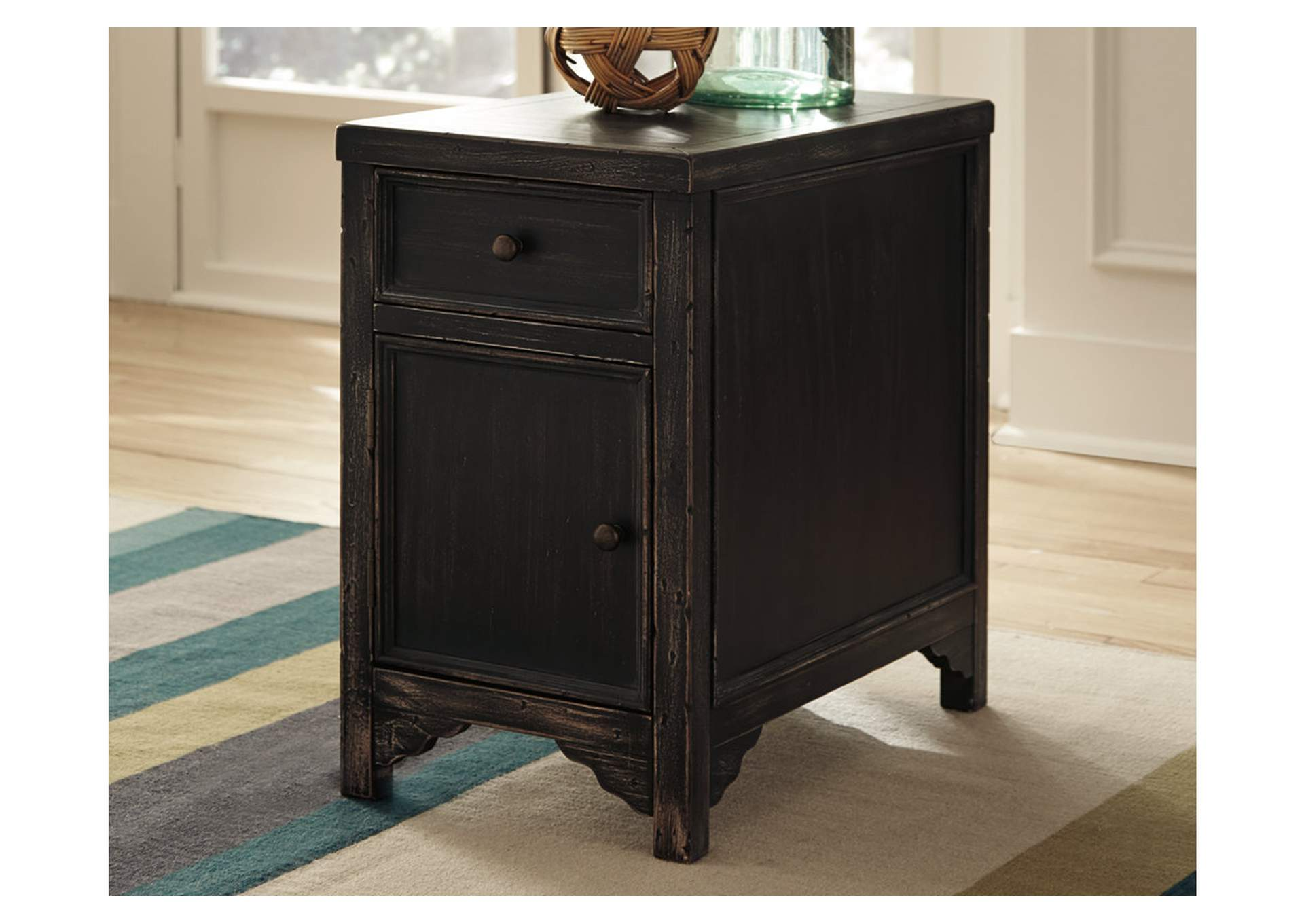 Gavelston Black Chairside End Table,Direct To Consumer Express