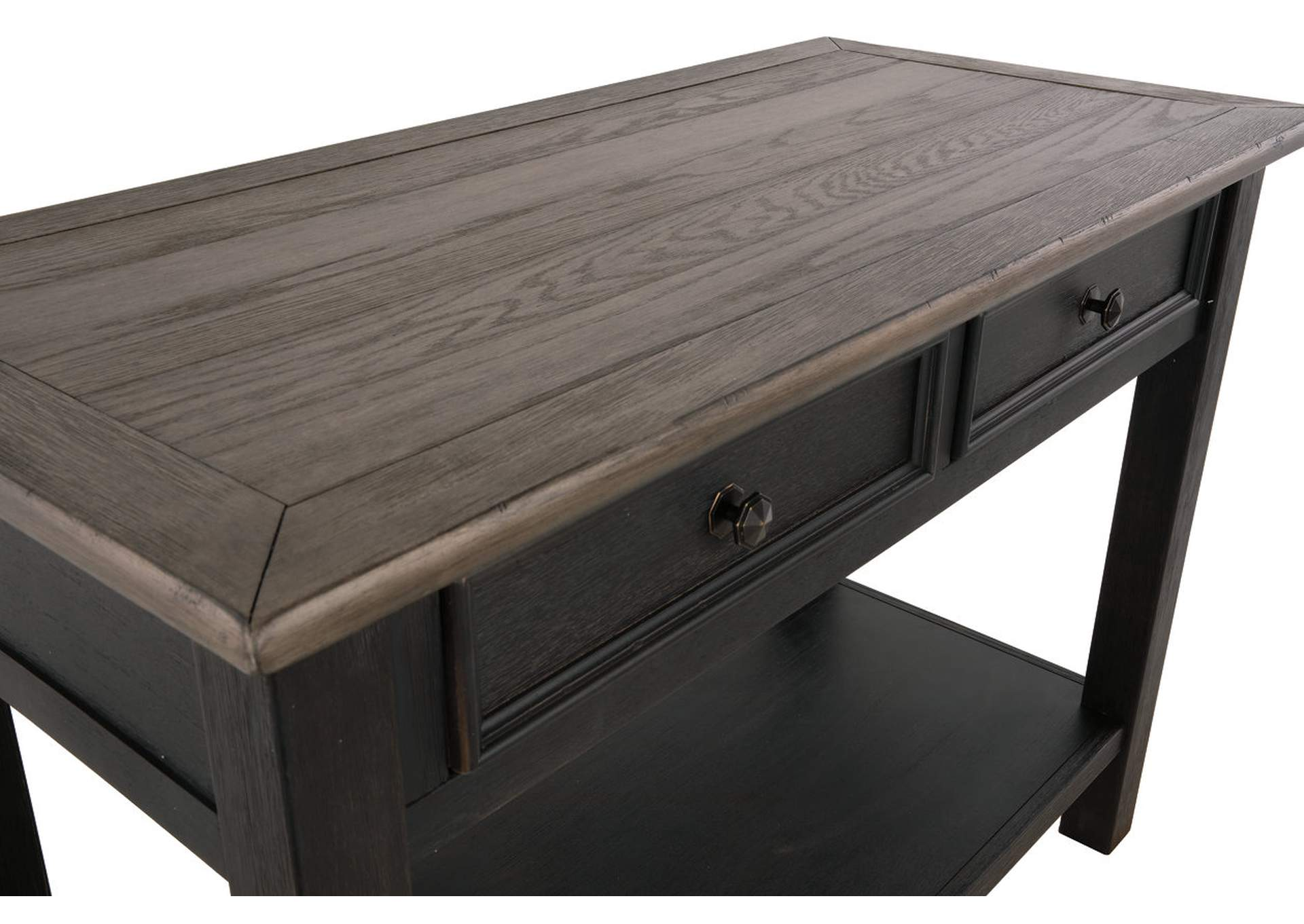 Tyler Creek Grayish Brown/Black Sofa Table,Direct To Consumer Express