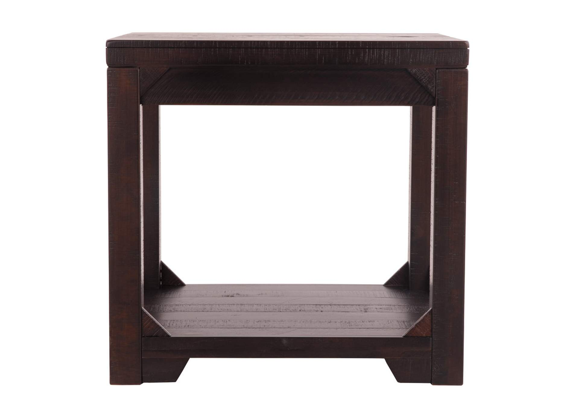Rogness Rustic Brown Rectangular End Table,Direct To Consumer Express