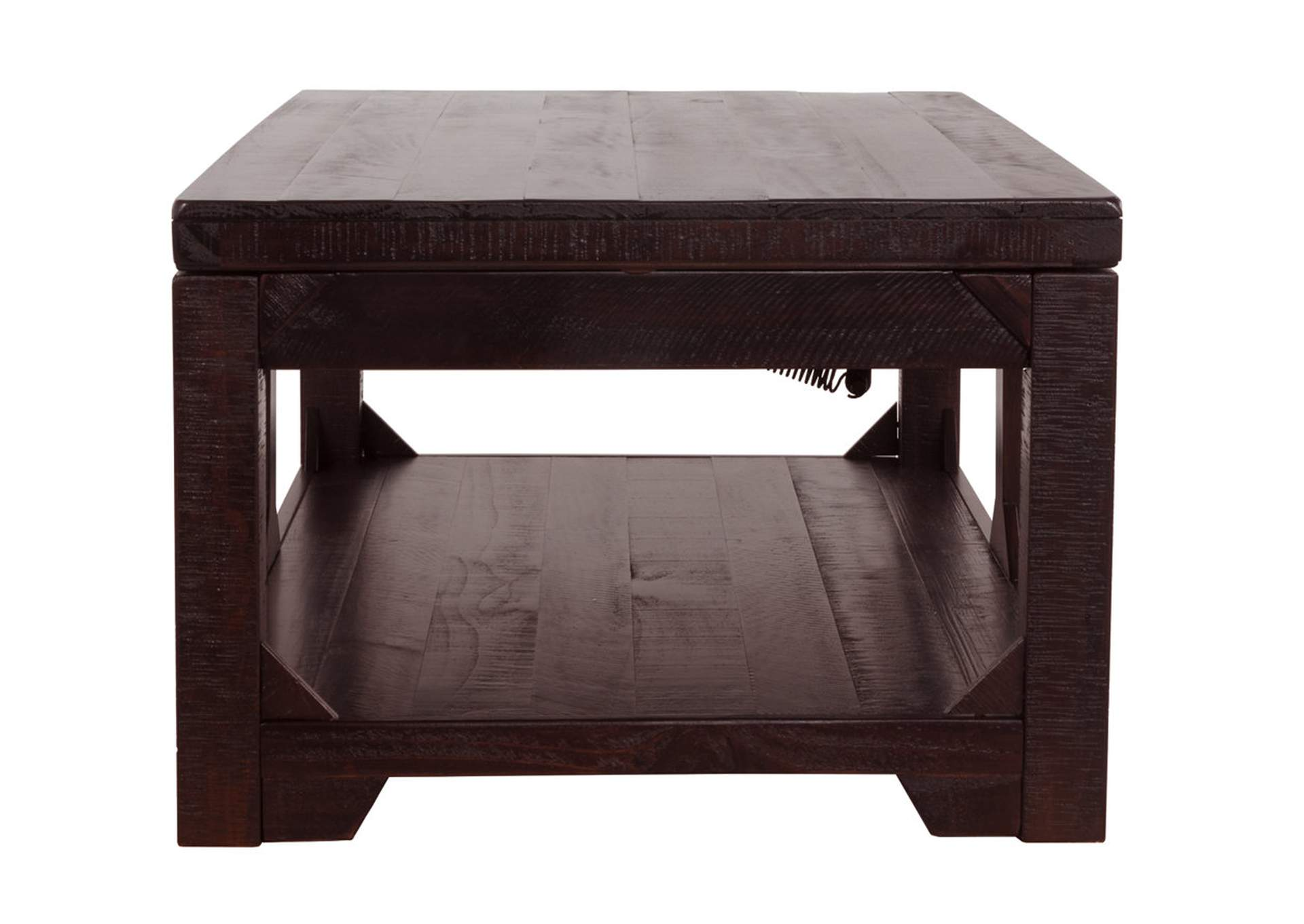 Rogness Rustic Brown Lift Top Cocktail Table,Direct To Consumer Express