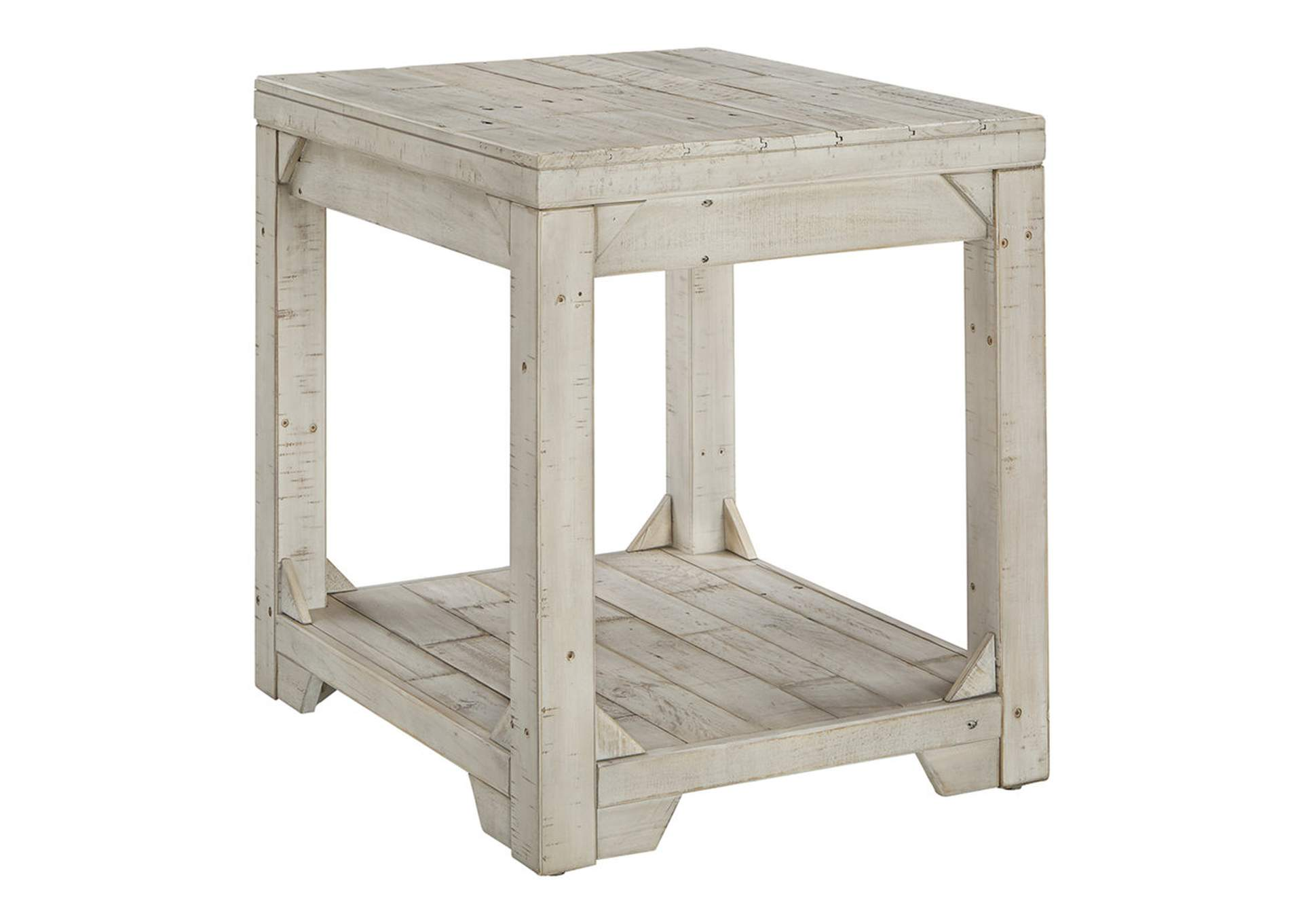 Fregine Whitewash Rectangular End Table,Direct To Consumer Express
