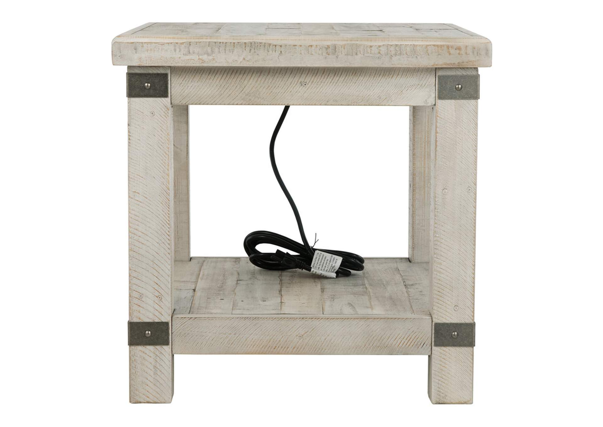 Carynhurst White Wash Gray End Table,Direct To Consumer Express