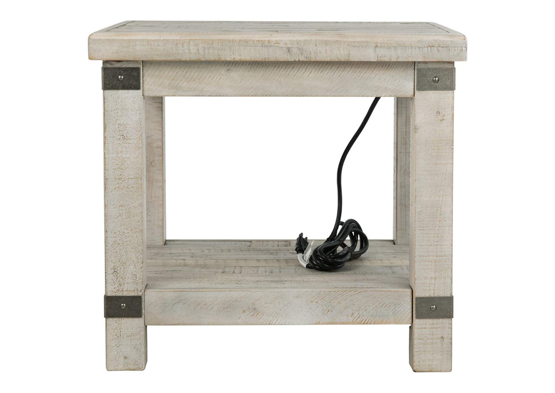 Carynhurst White Wash Gray End Table,Signature Design By Ashley
