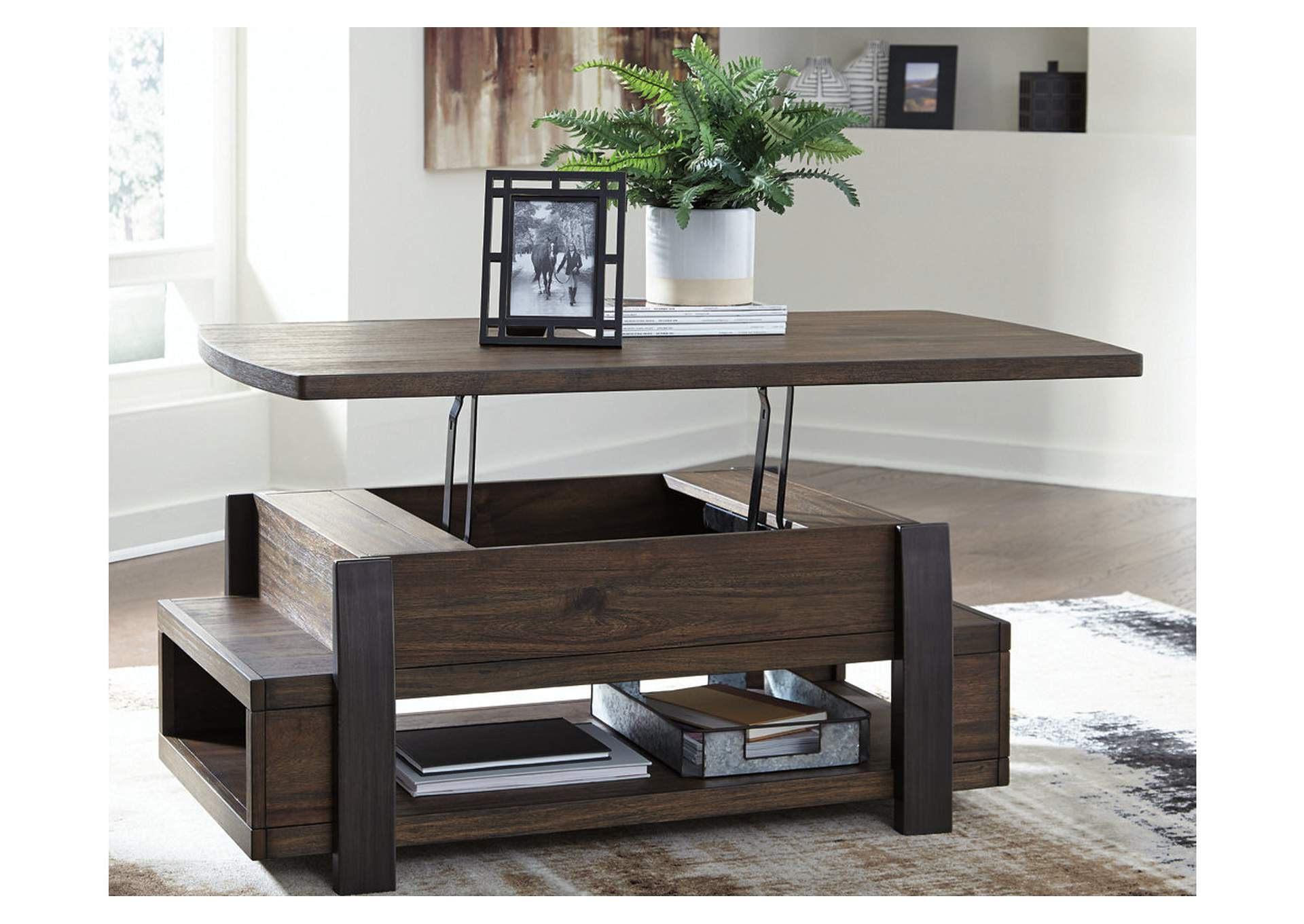 Vailbry Brown Lift-Top Cocktail Table,Signature Design By Ashley